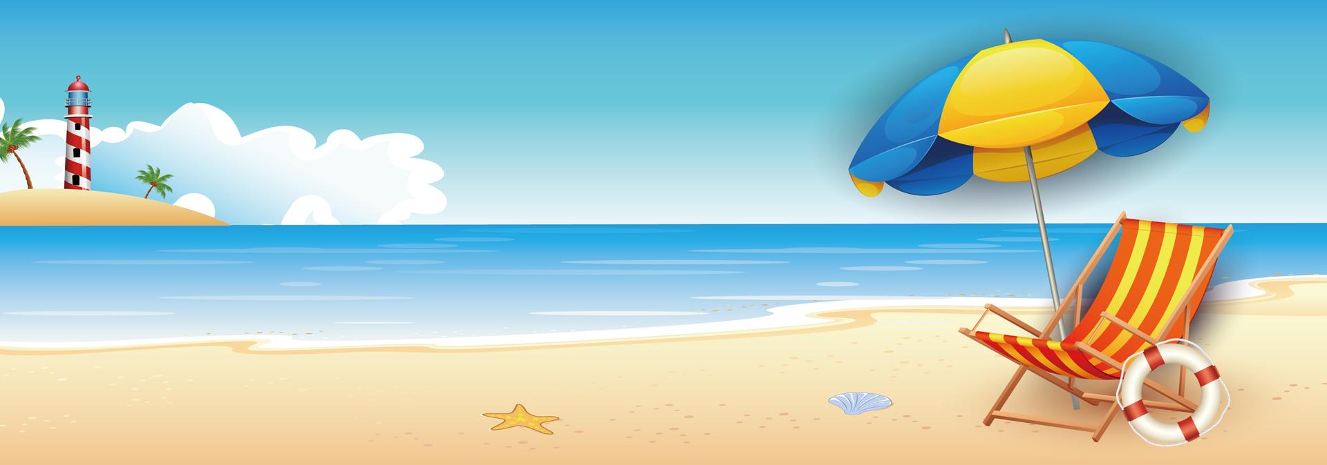 banni u00e8re de l  u00e9t u00e9 en vacances au bord de la mer de fond