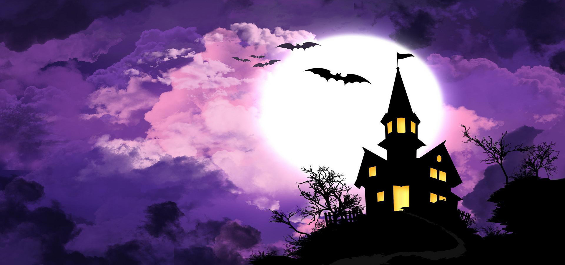 halloween background  house  bat  halloween background