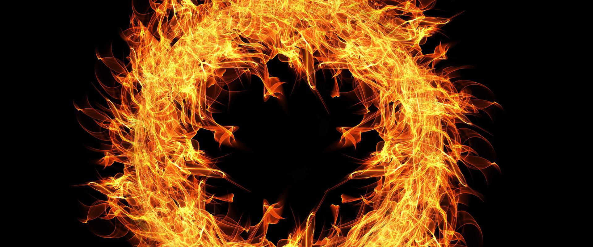 flamme le feu cercle black contexte cercle de feu rond flamme image de fond pour le