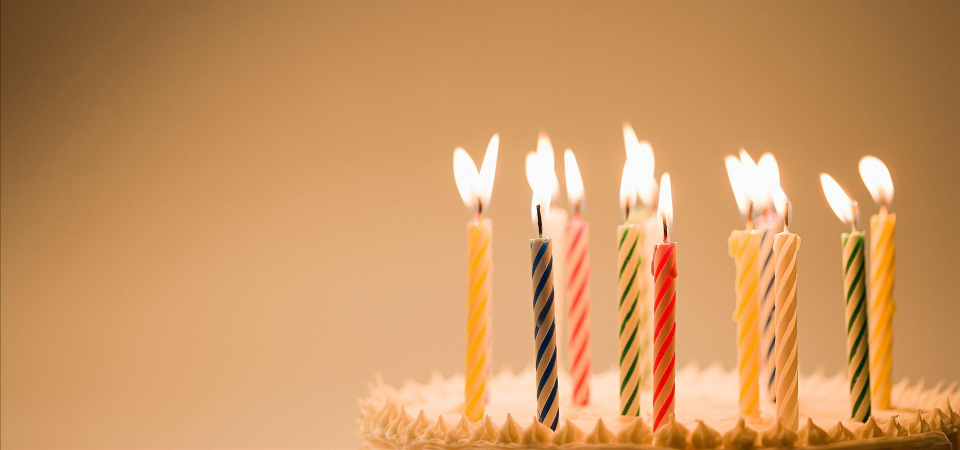 Birthday Candle Background Happy Birthday Candles Yellow