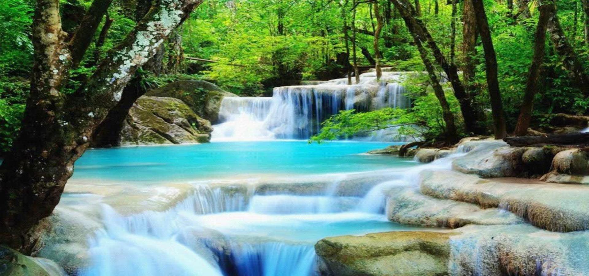 cascade de l u0026 39 eau river stream contexte le paysage forest
