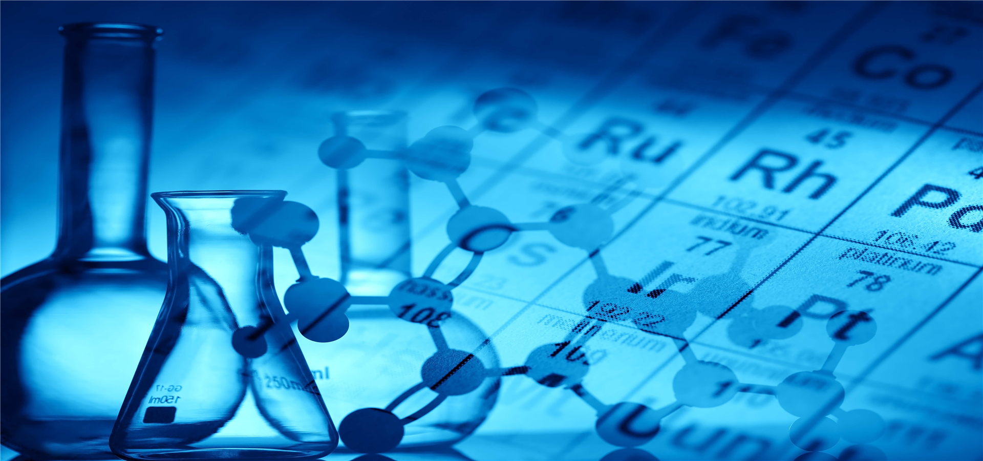 chemical research poster background chemical molecules