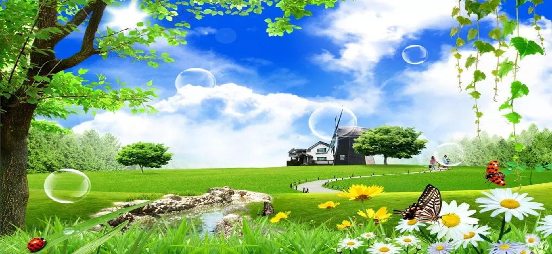le printemps de paysage le printemps paysage le ciel bleu