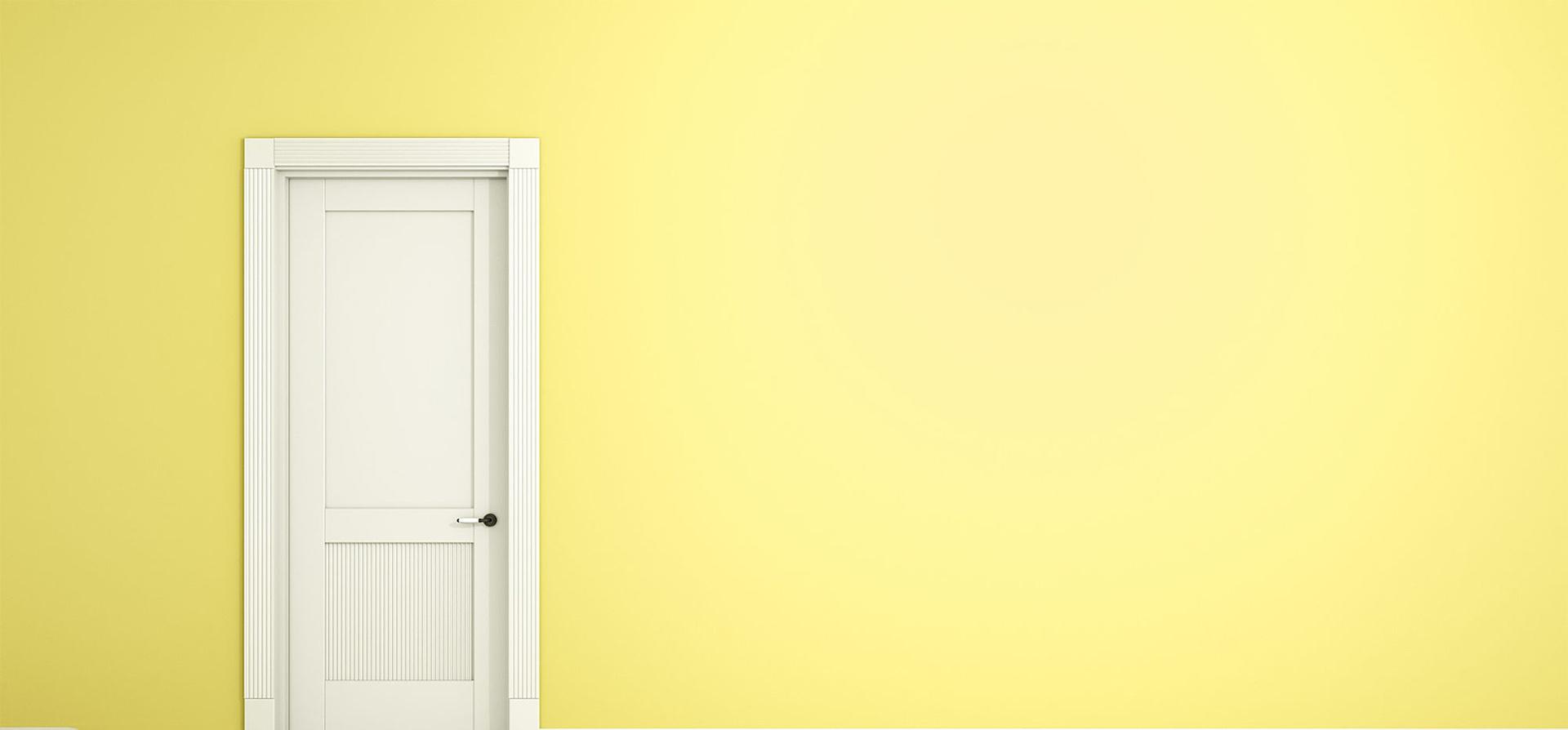 лимонные стены в доме