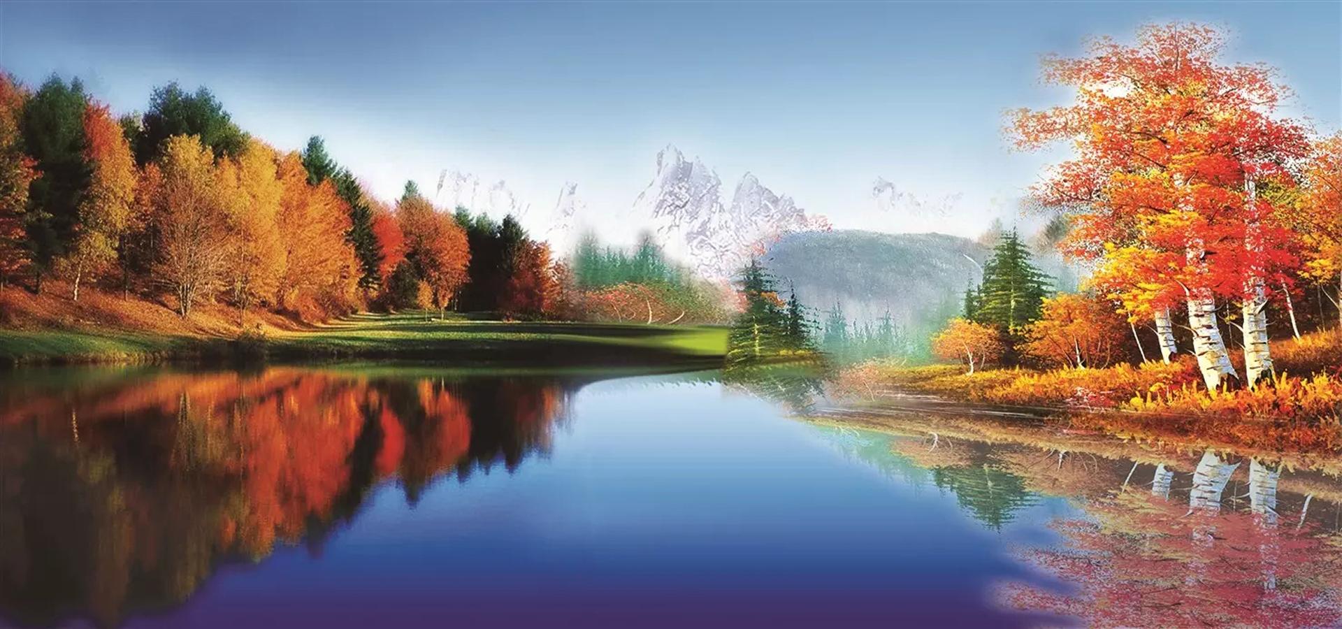 Lukisan pemandangan Langit  Biru Lanskap Lukisan  Imej Latar