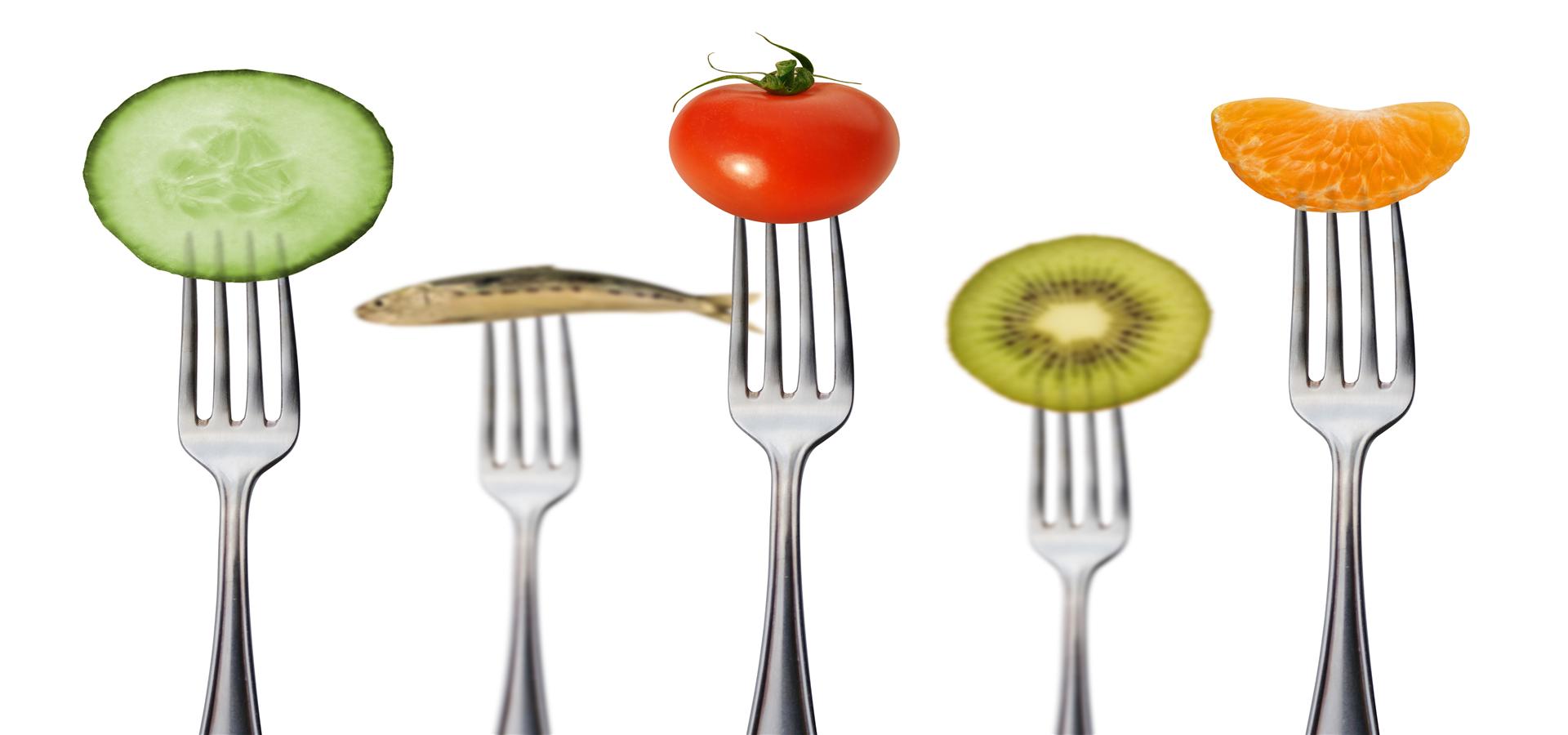MIT Messer Und Gabel Auf Lebensmittel Poster Der Kreativen