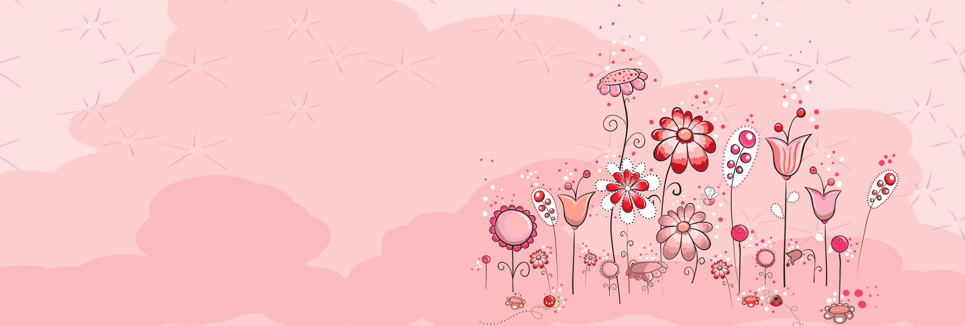 Flores Horizontales Dibujos Animados Patrón De Fondo: Floral Diseño Patrón Flor Antecedentes Tarjeta Elemento