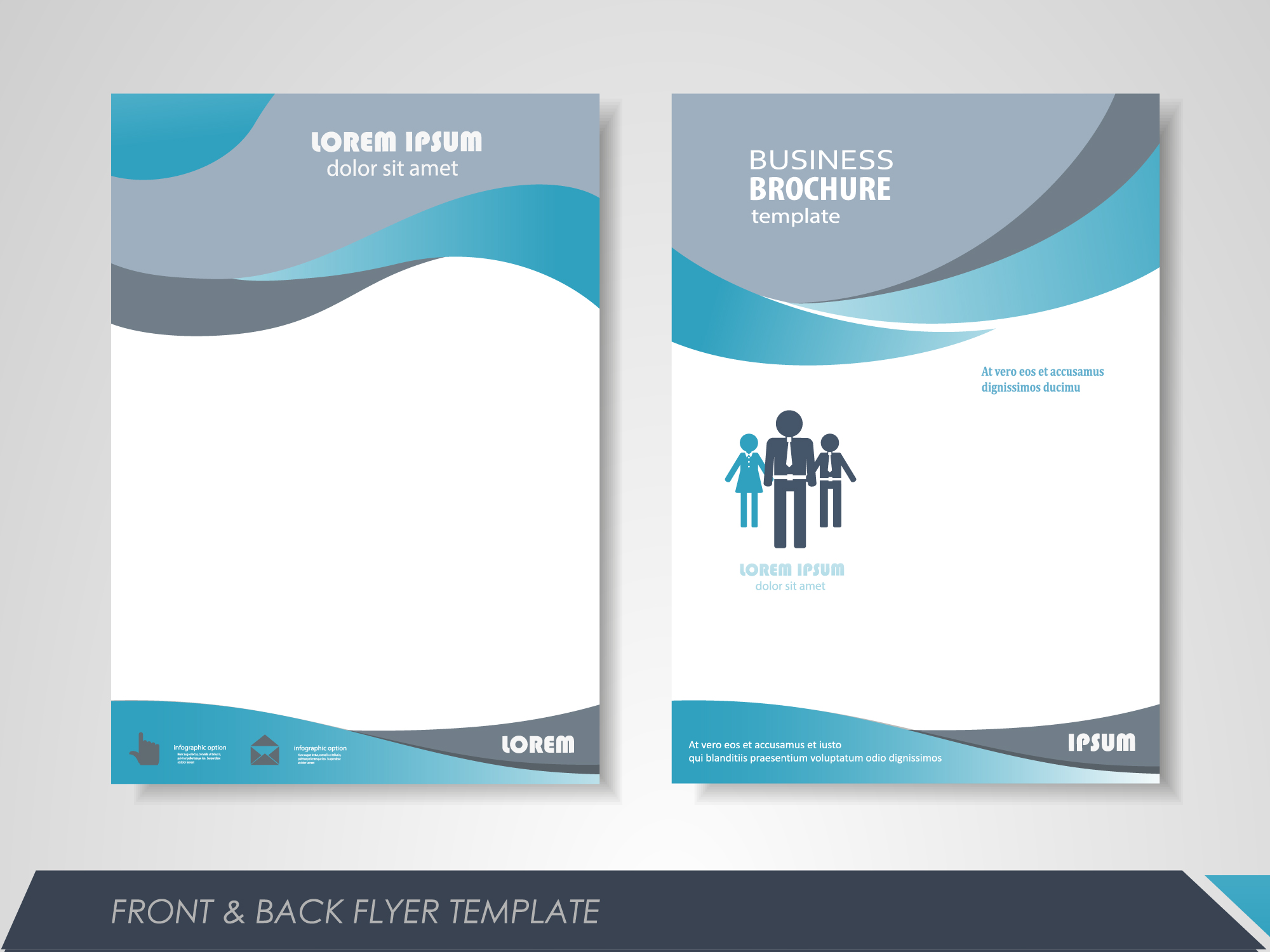 fashion business single page brochure design vector