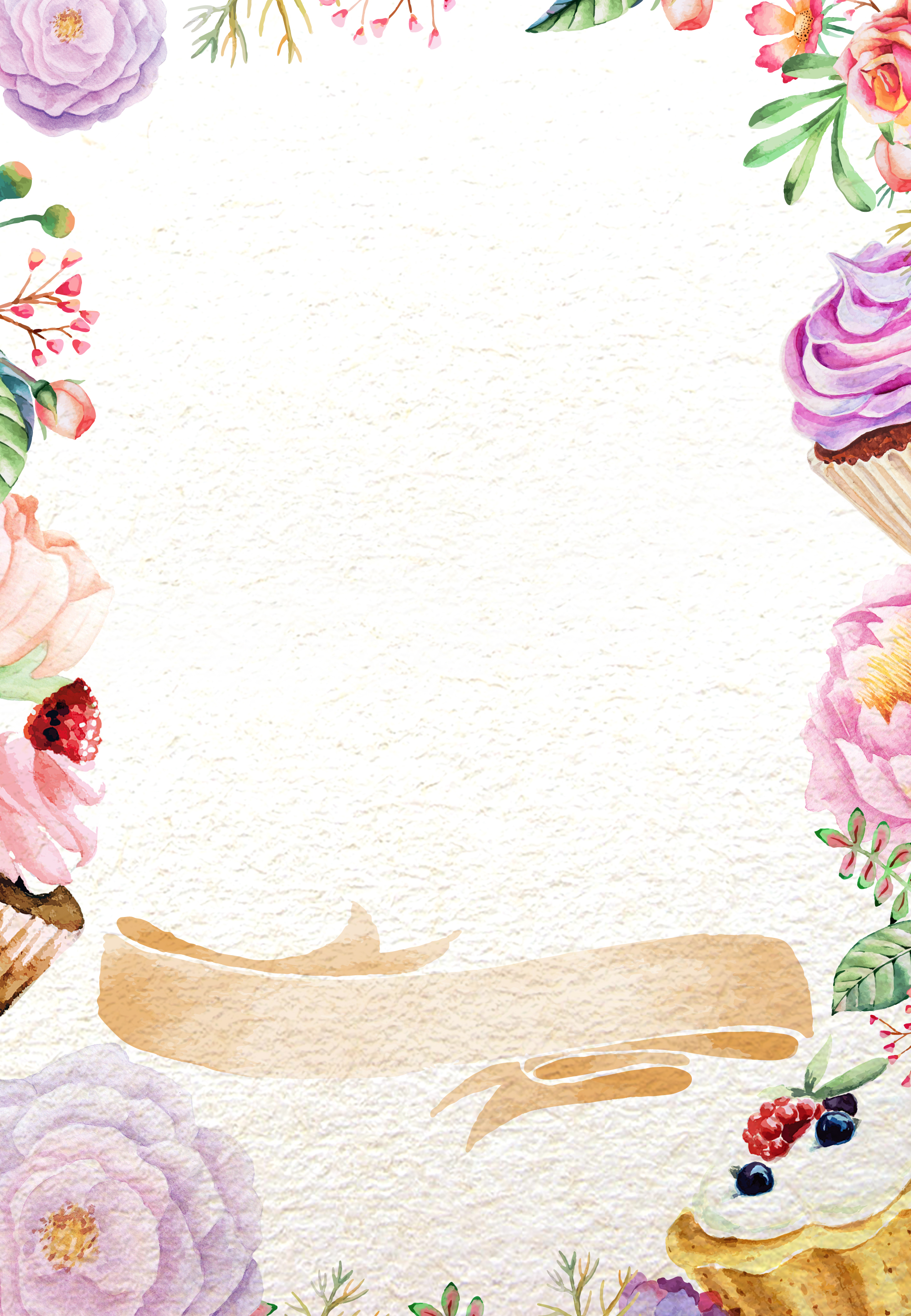 Sweet Cake Flowers Background Sweet Cake Flowers