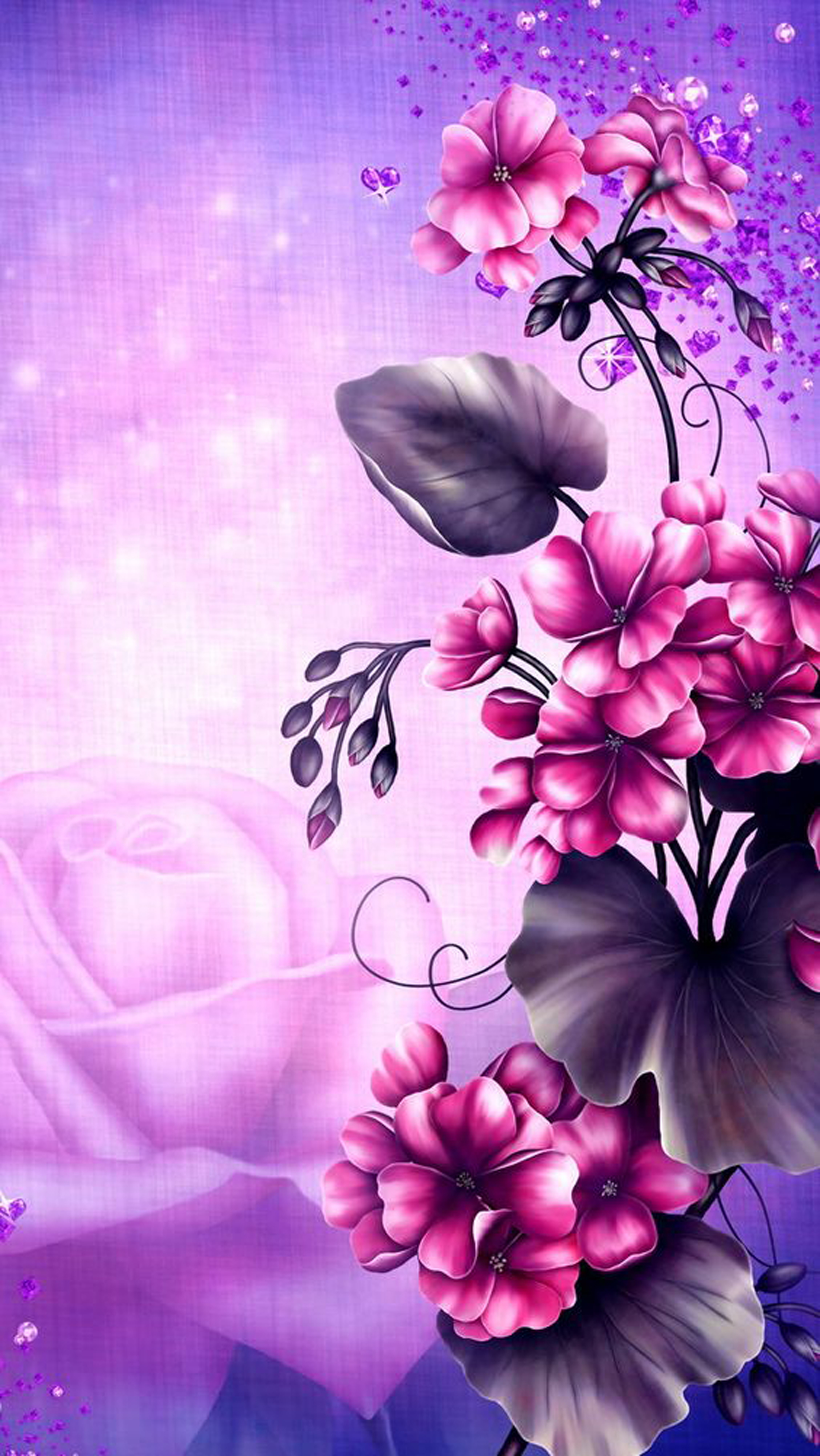 romantic flowers background  romantic  flowers  panels
