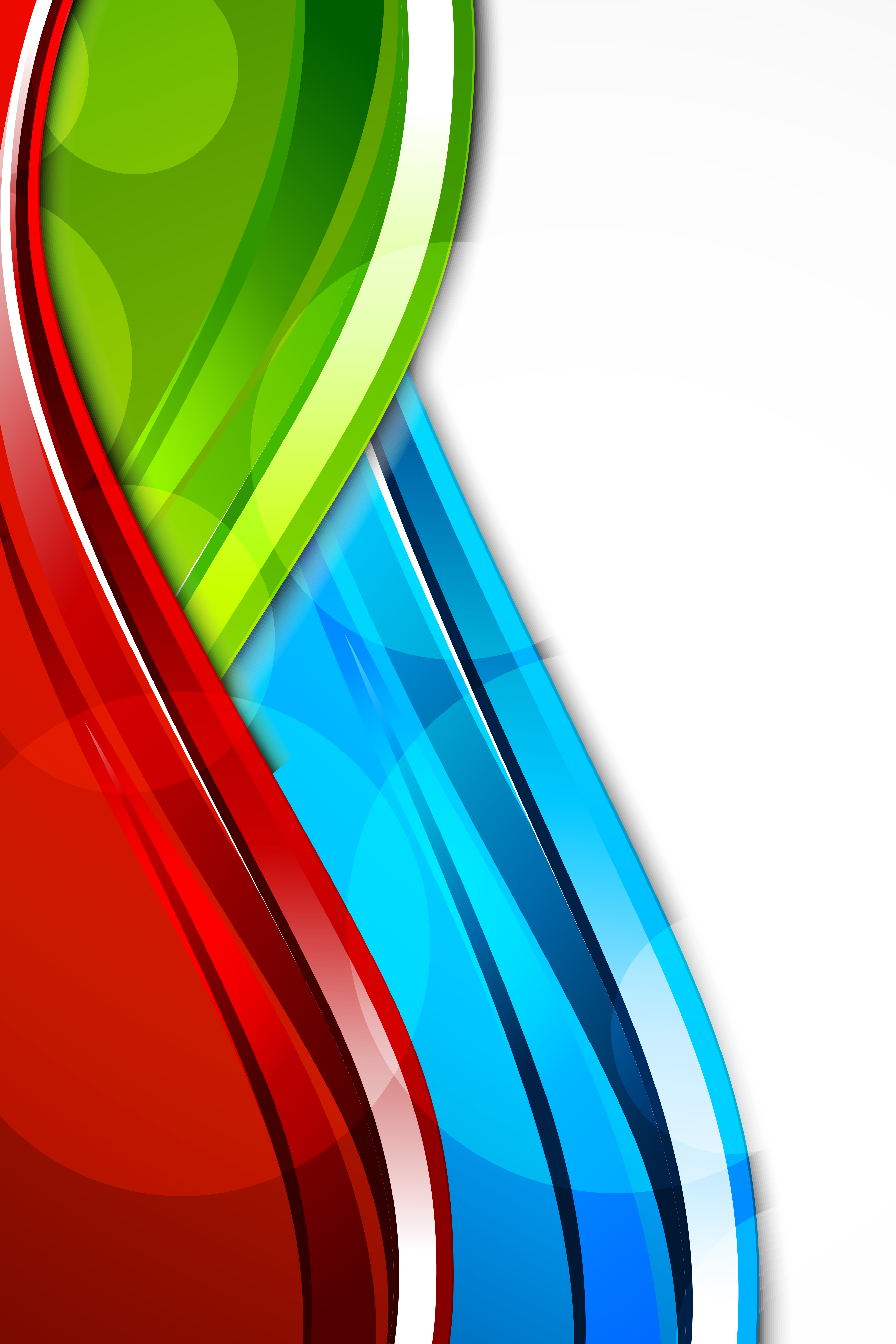 Primary Colors Curve Wave Vector Poster Primary Colors