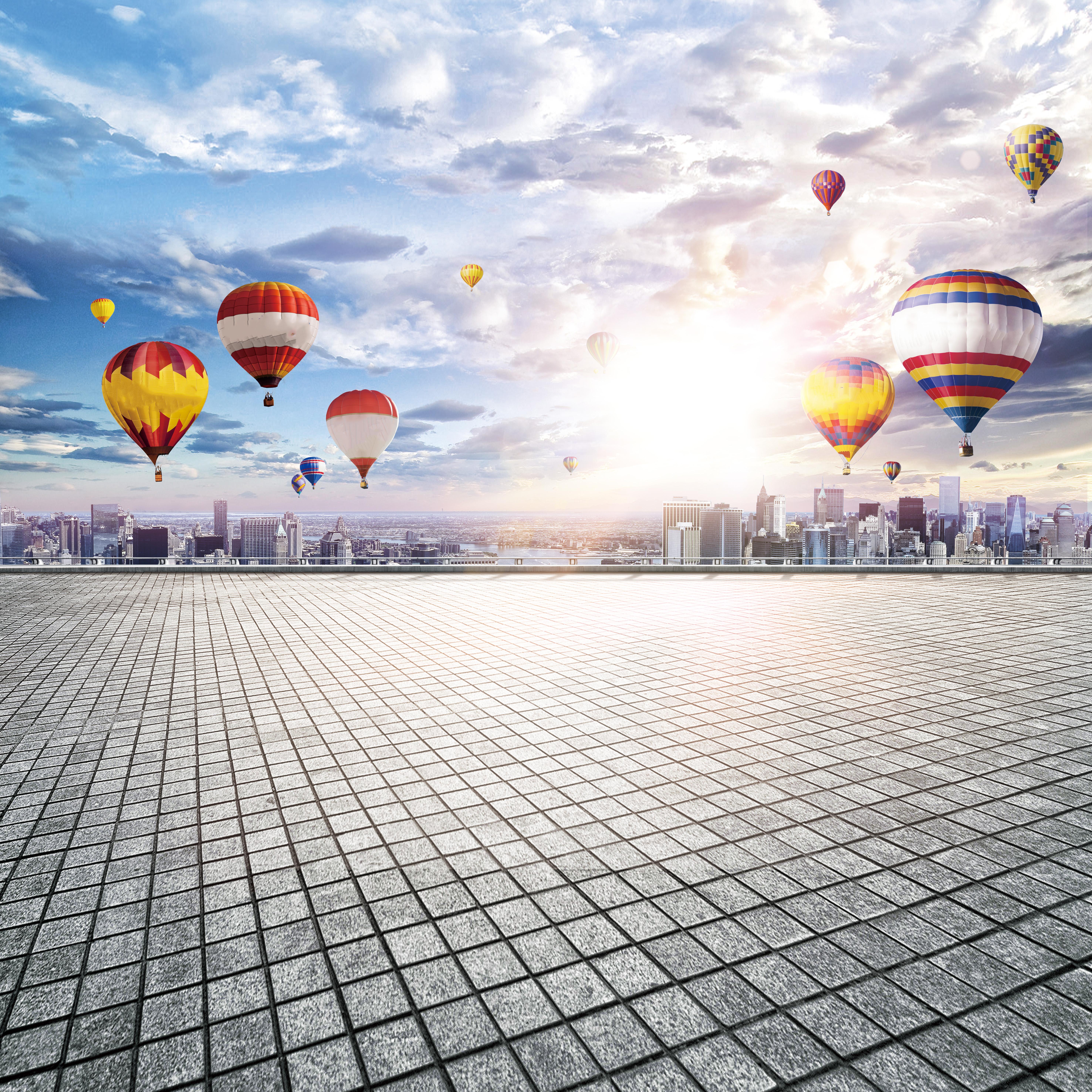 ballon air l u0026 39 air chaud sky contexte le sport parachute les