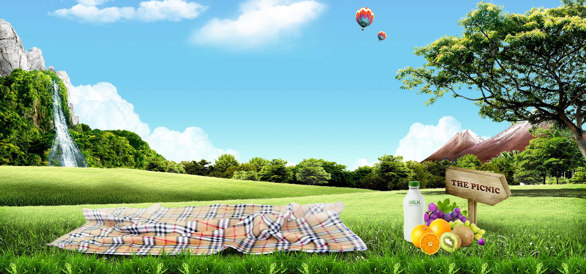 Beautiful Banner Background Hd: Grass Meadow Mountains Sky Travel Water Fruit Nature