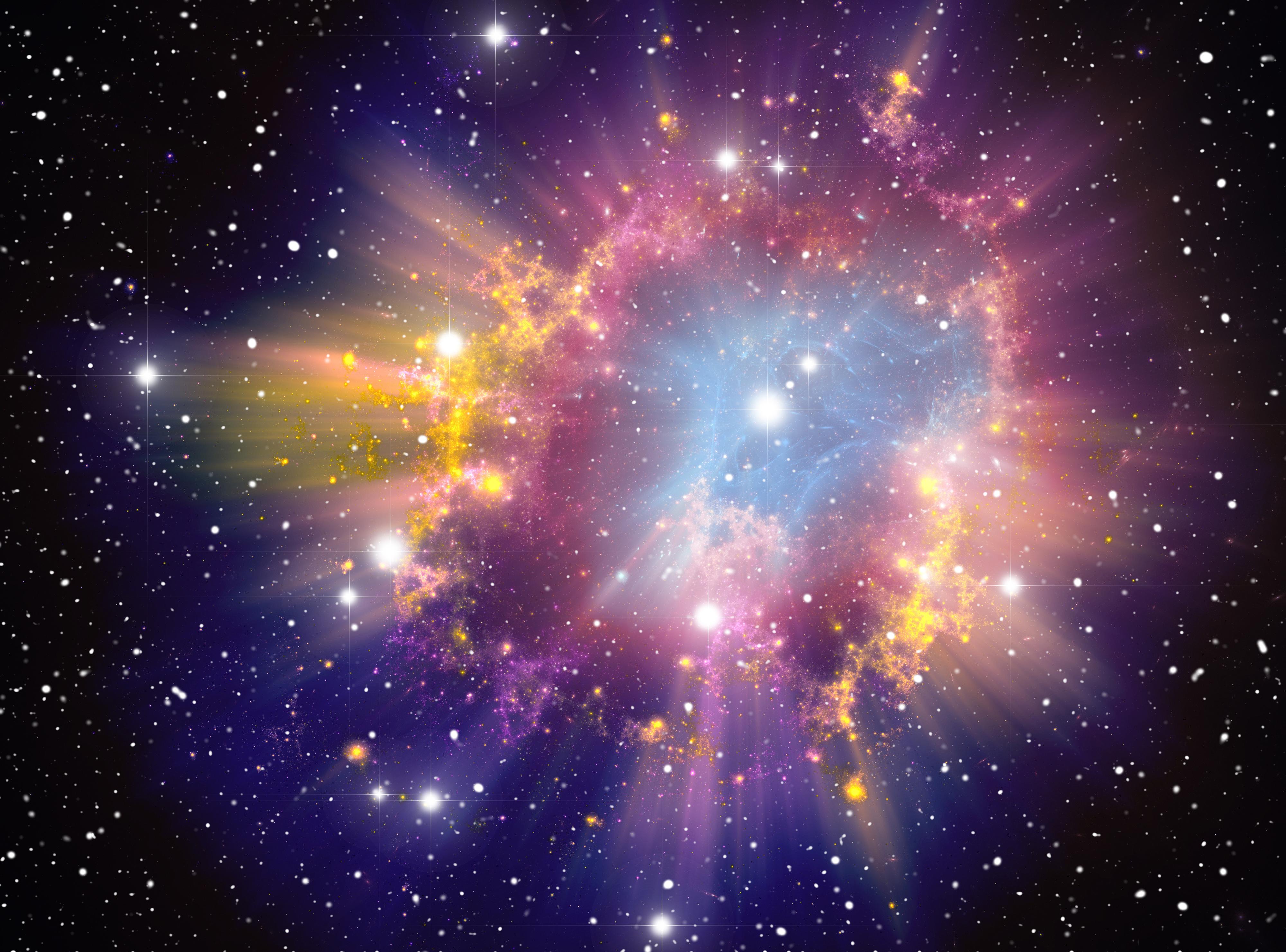 colorful universe poster  beautiful  universe  dream