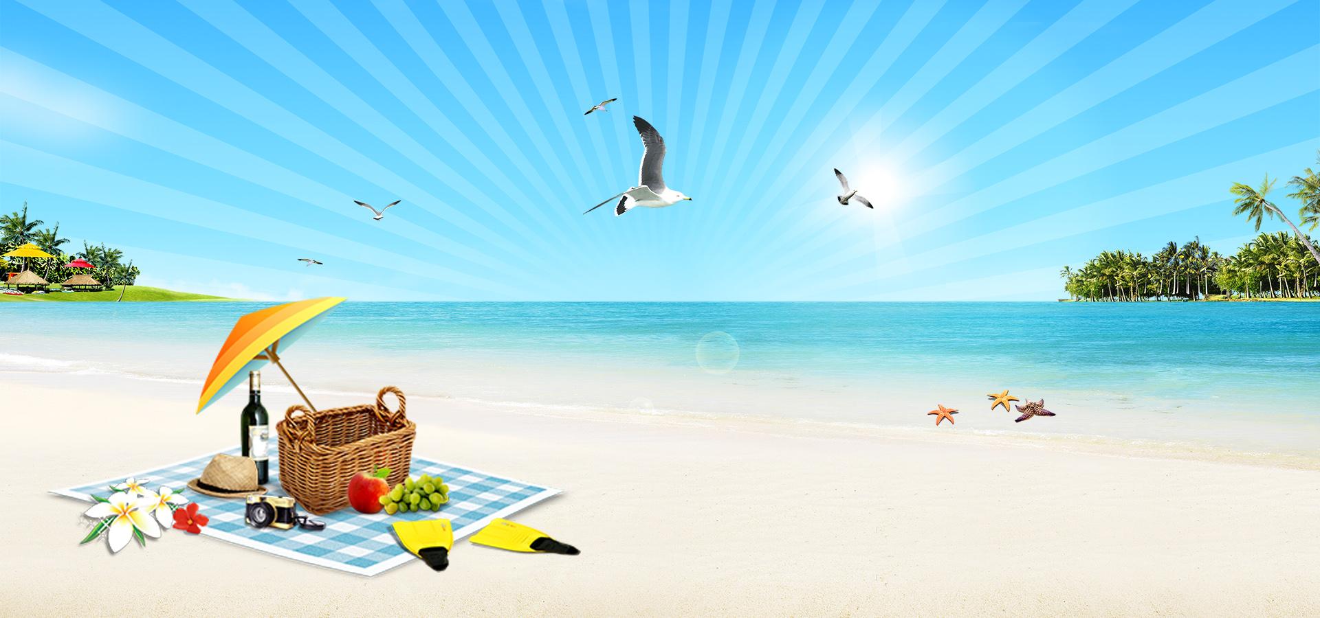beach party sandy beach seaside sea background image