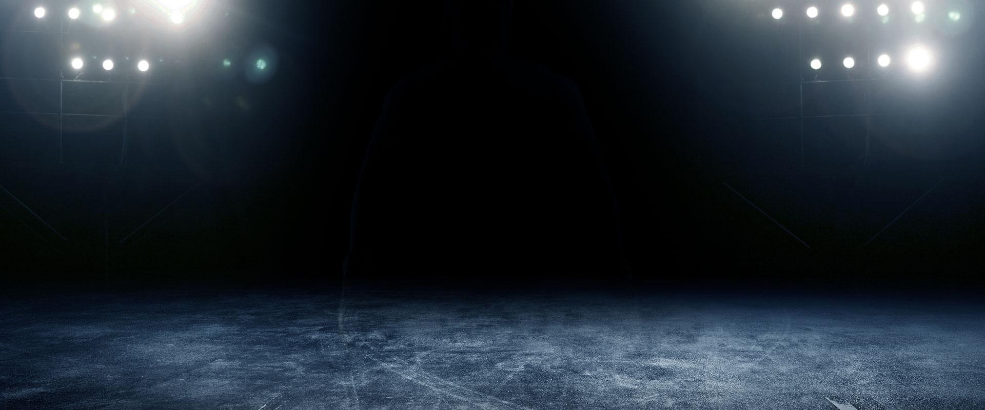 dark stage lighting  deep  blue  spotlight background