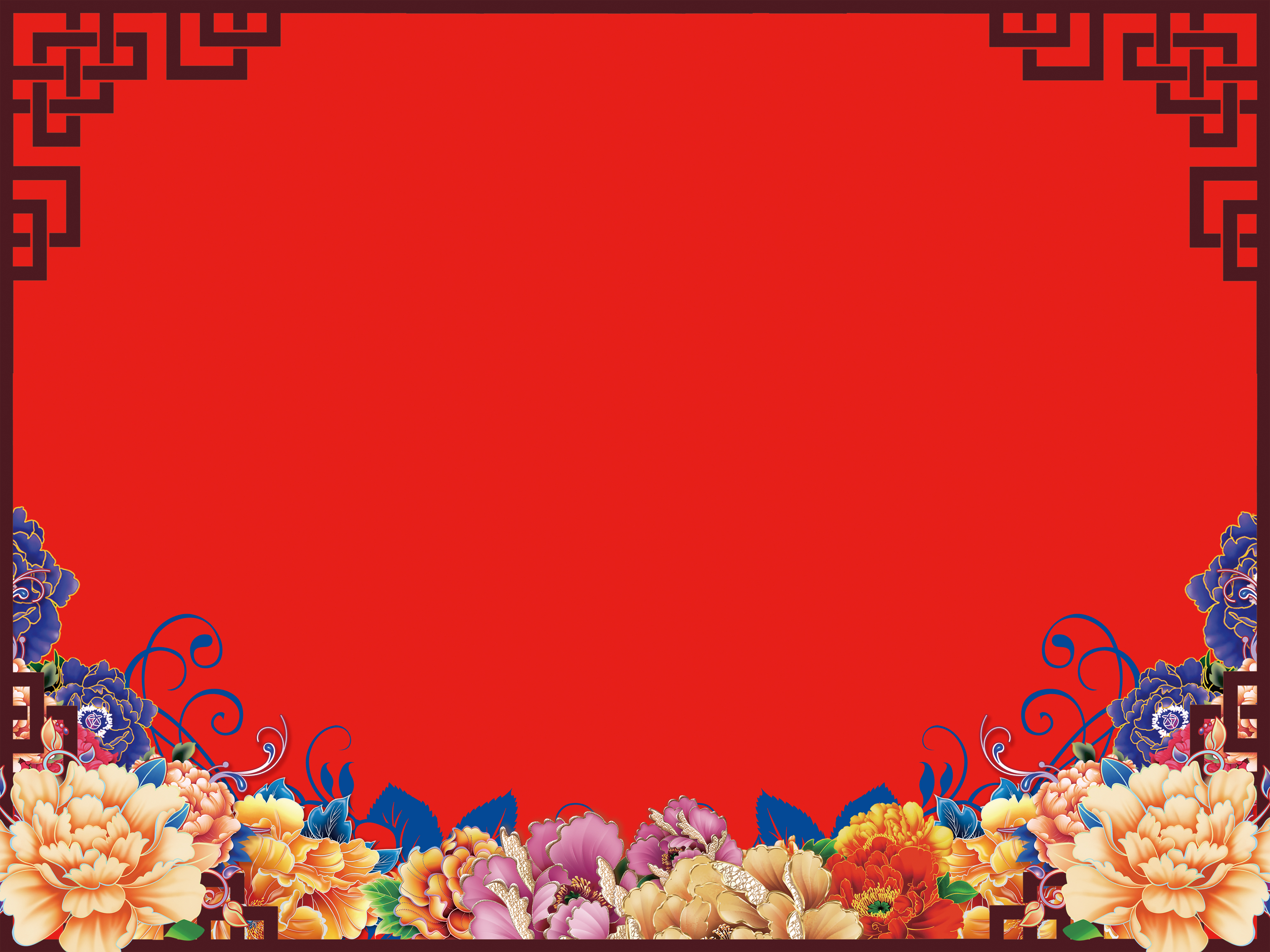 Red Wedding Gift Card Background, Red, Classic Border, Dimensional ...