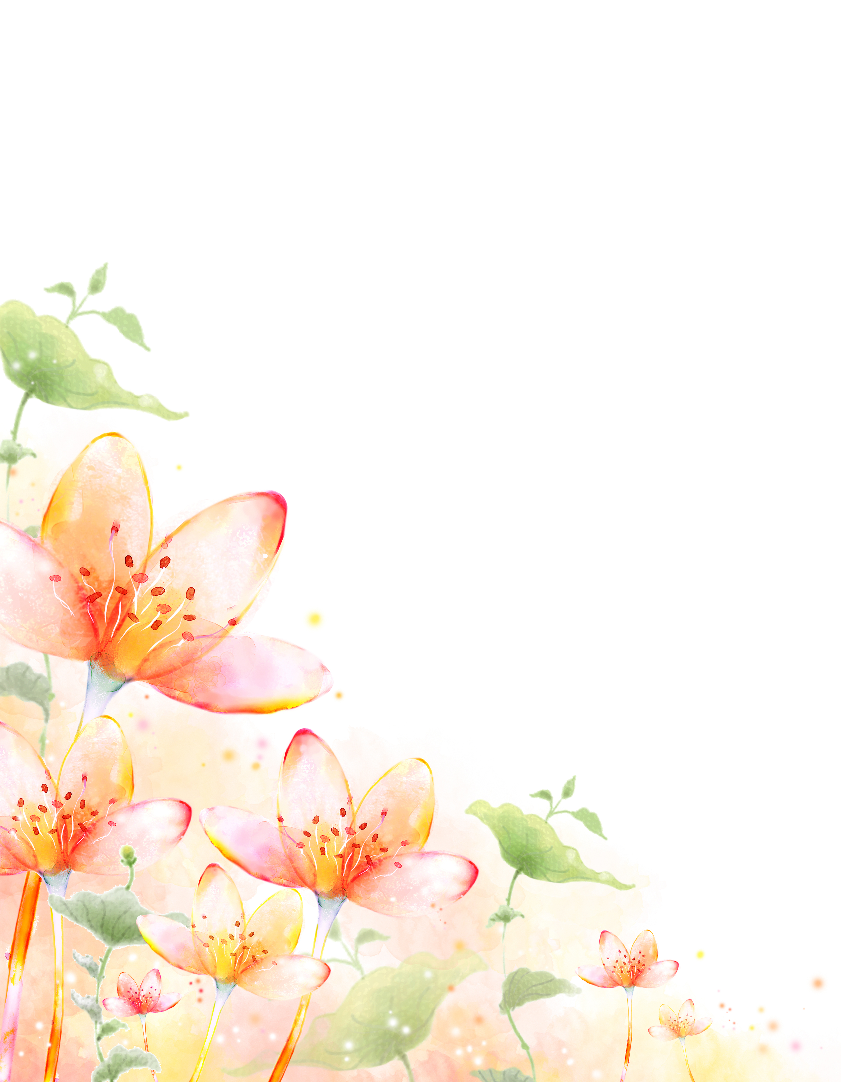 pintado a mano de flores acuarela la impresi u00f3n de fondo