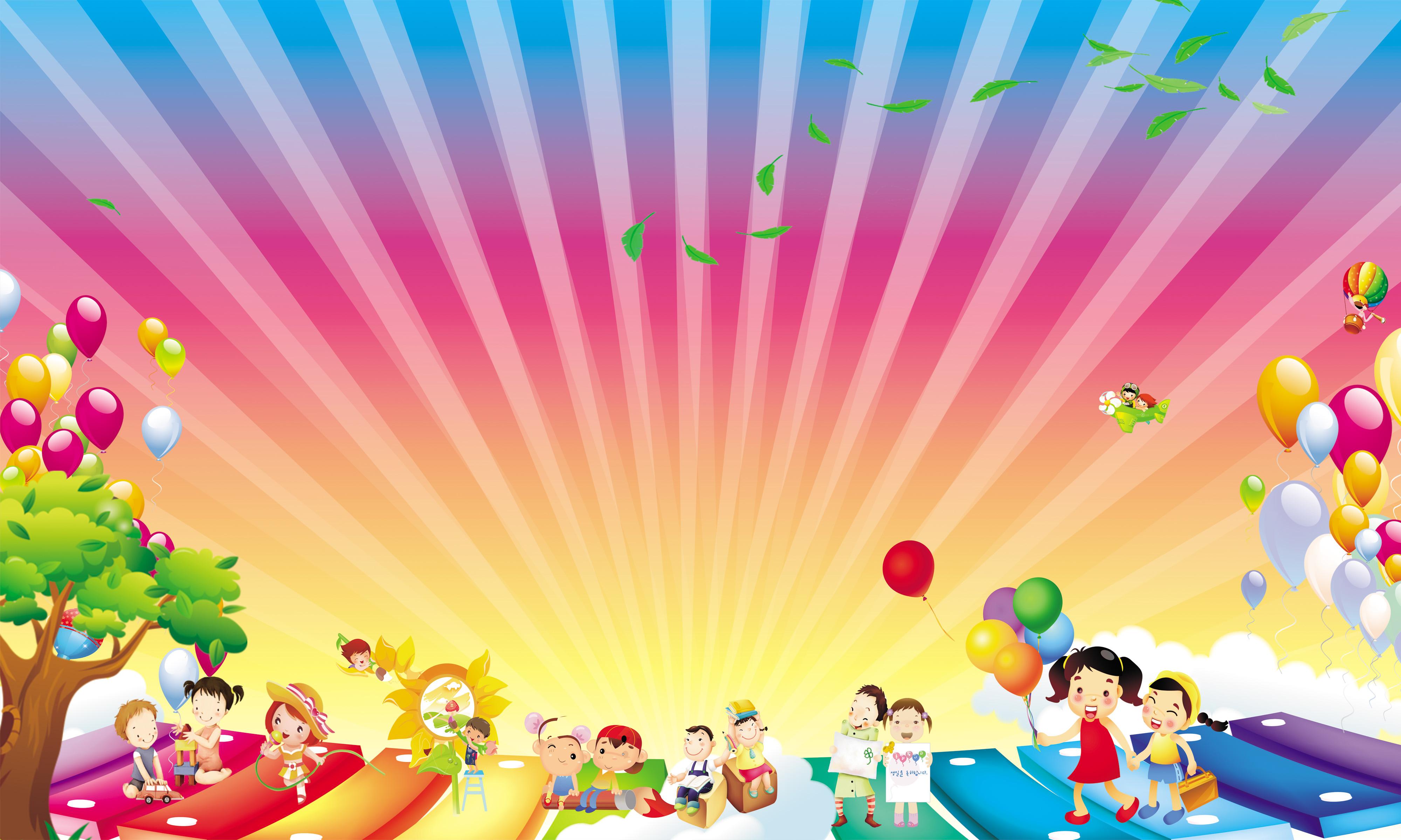 Happy Children Background Photos, Happy Children ...