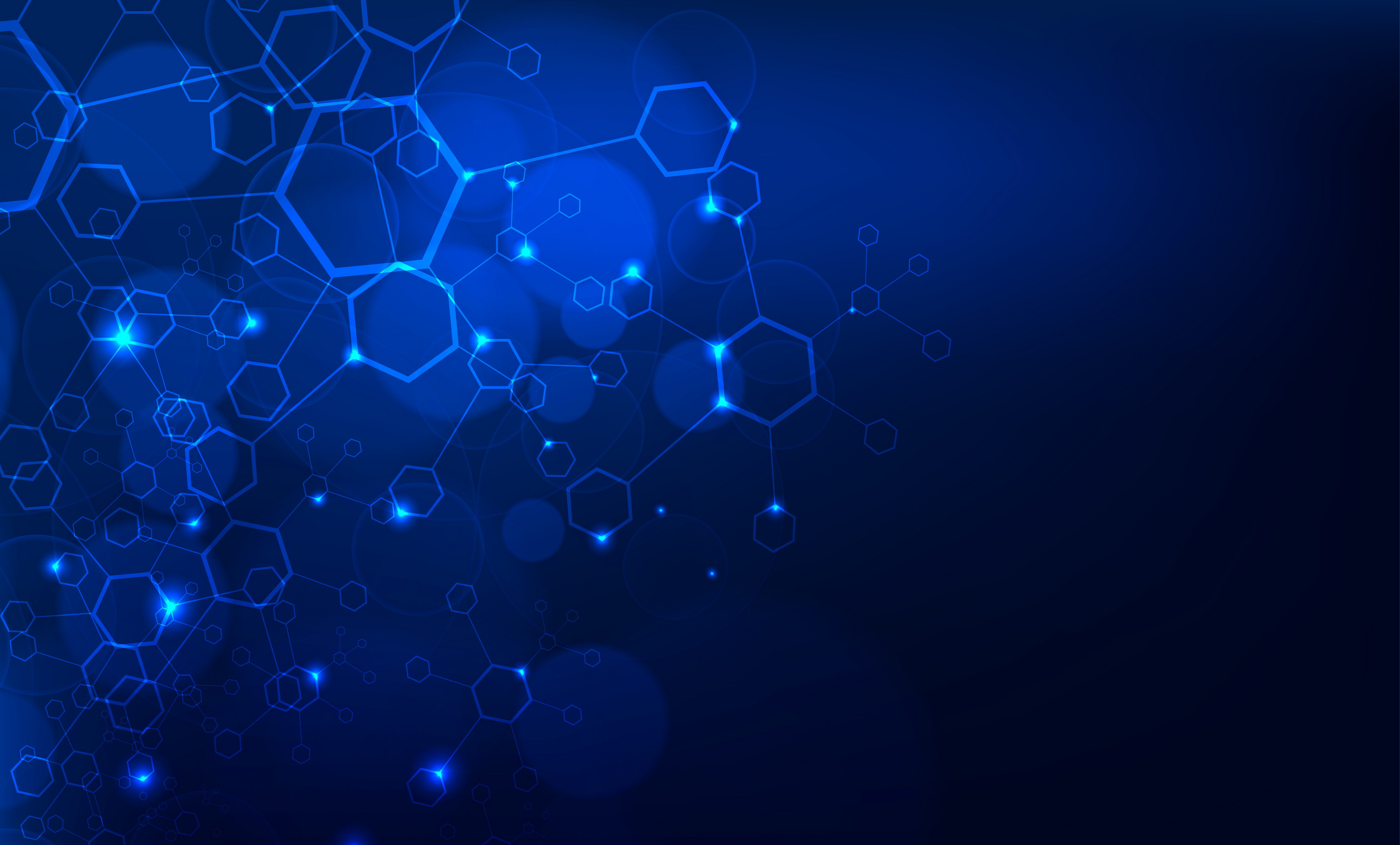 Blue Hexagon Blue Hexagon Geometry Background Image For