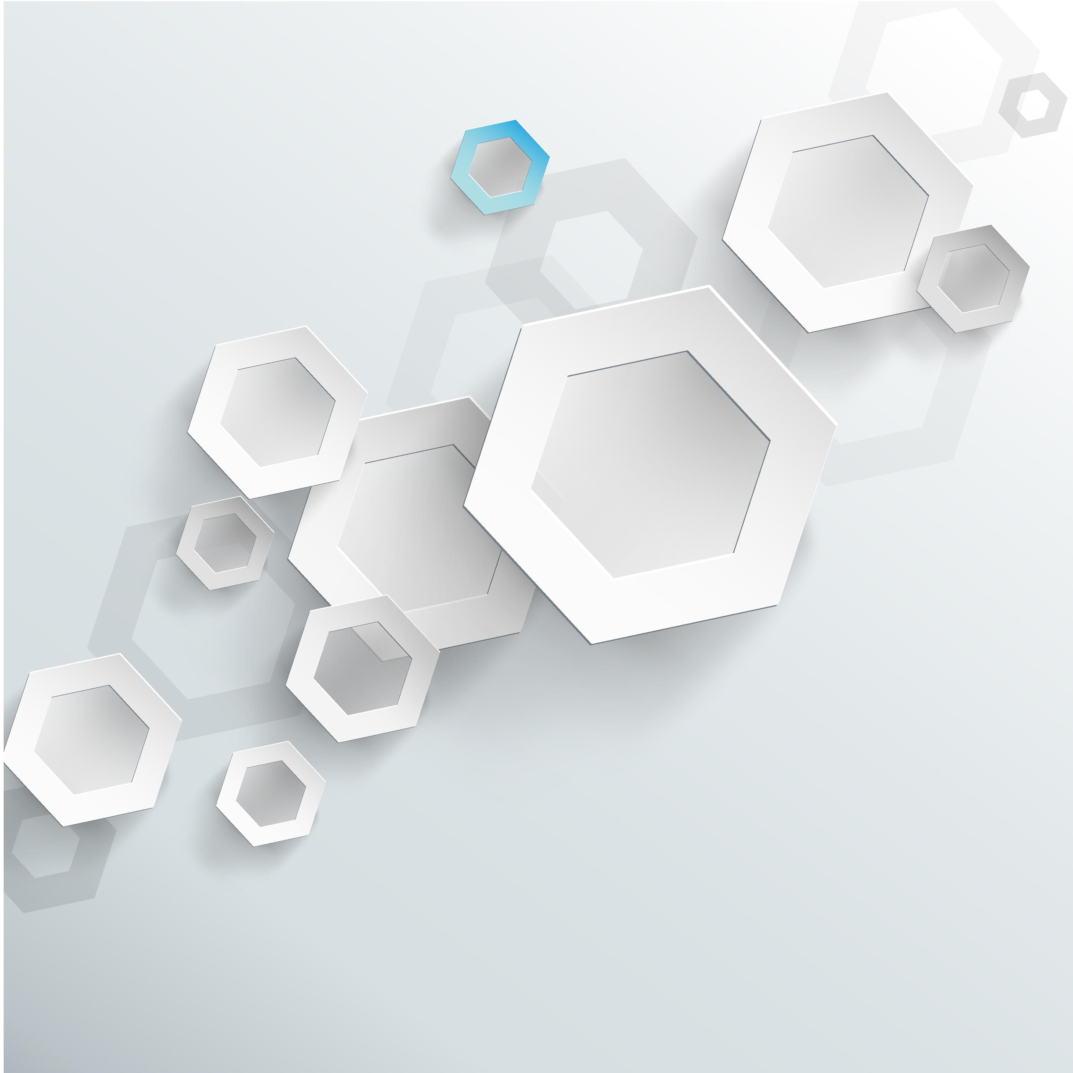 white 3d hexagon background white 3d hexagon background