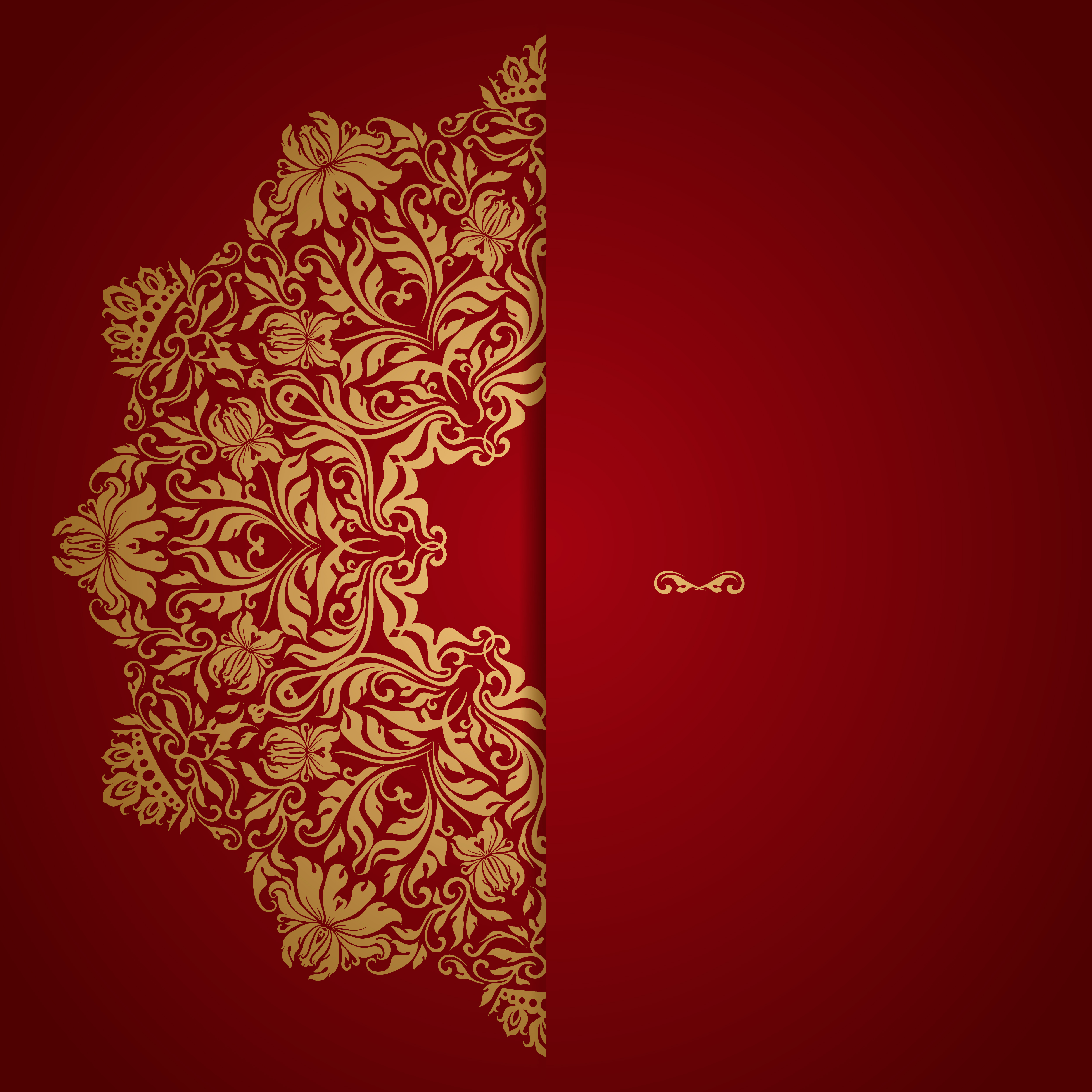 Red Wedding Invitation Vector Background, Red, Golden, Grain ...