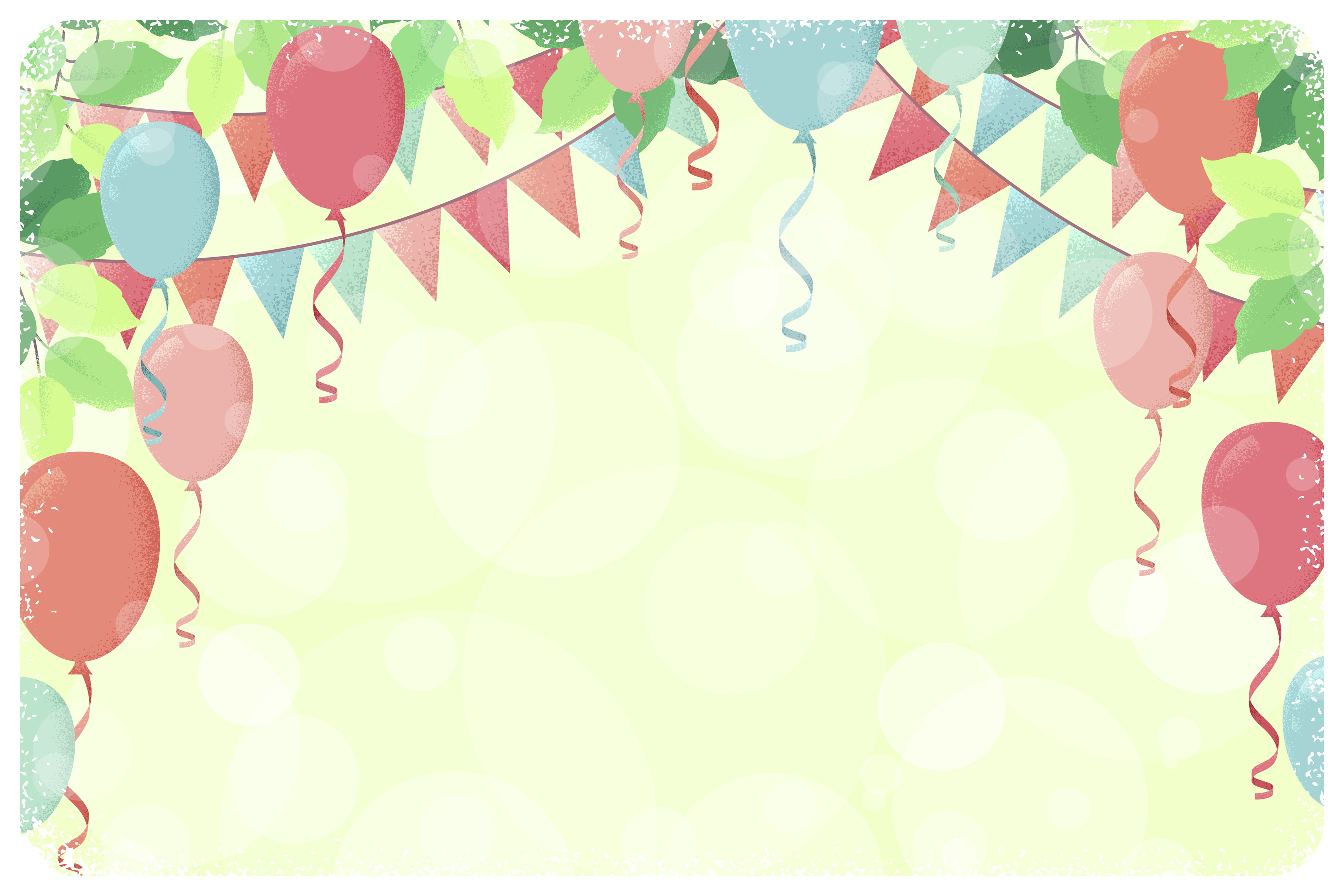 Fresh And Lovely Birthday Balloons Background Balloon