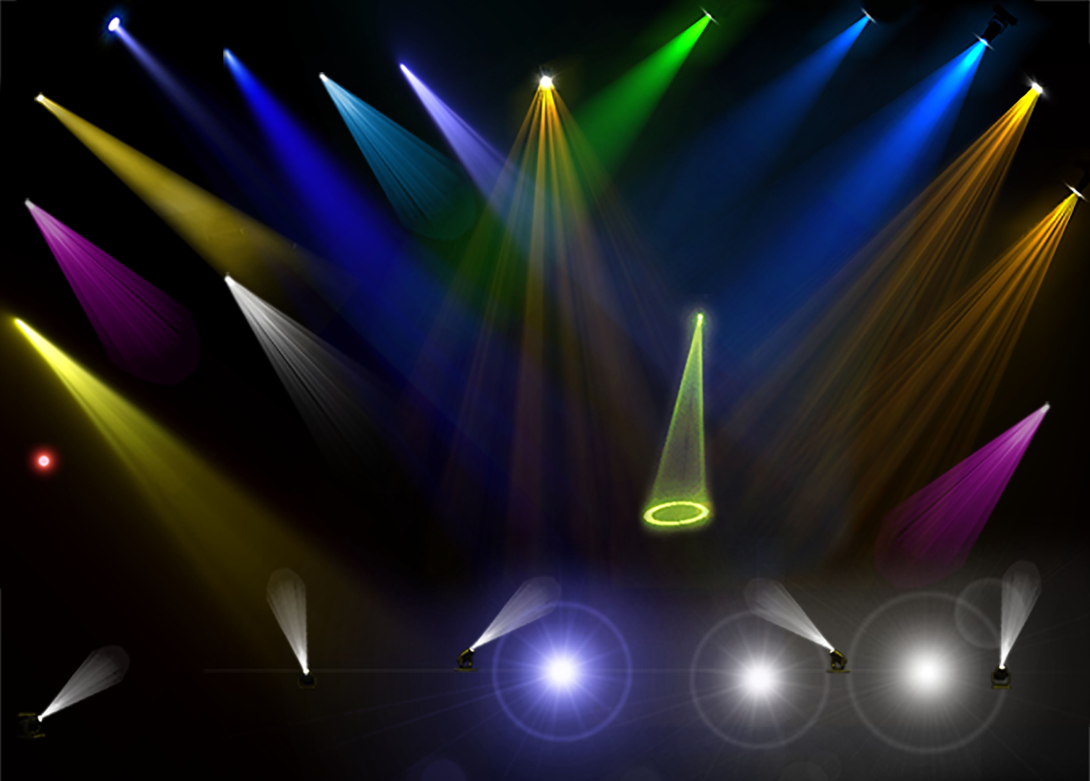 Cool stage stage lighting effects psd light colorful - Cool lighting effects for your room ...