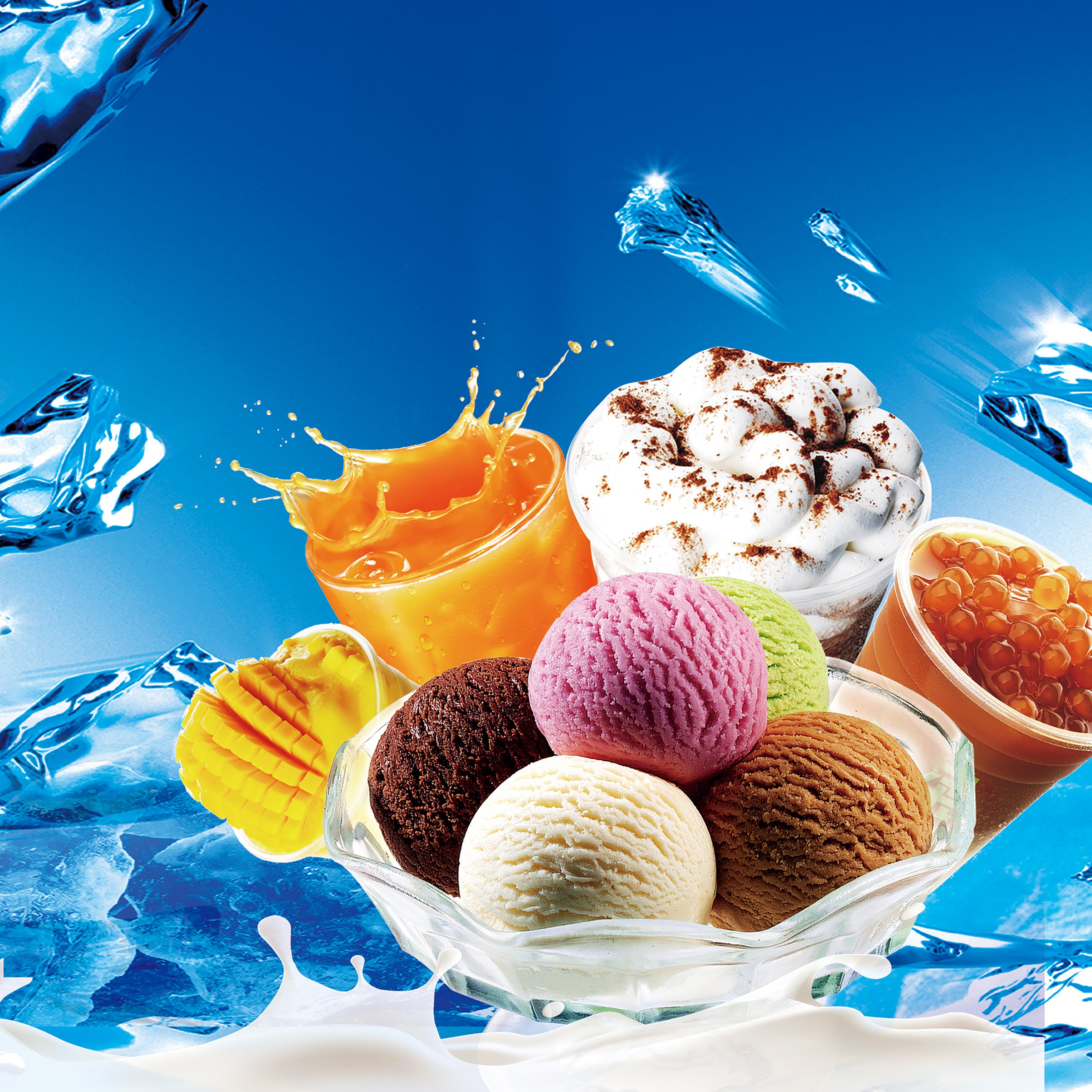 Ice Cream Wide Wallpapers Free: Decoração A Holiday Frutas Celebração Background Alimentos