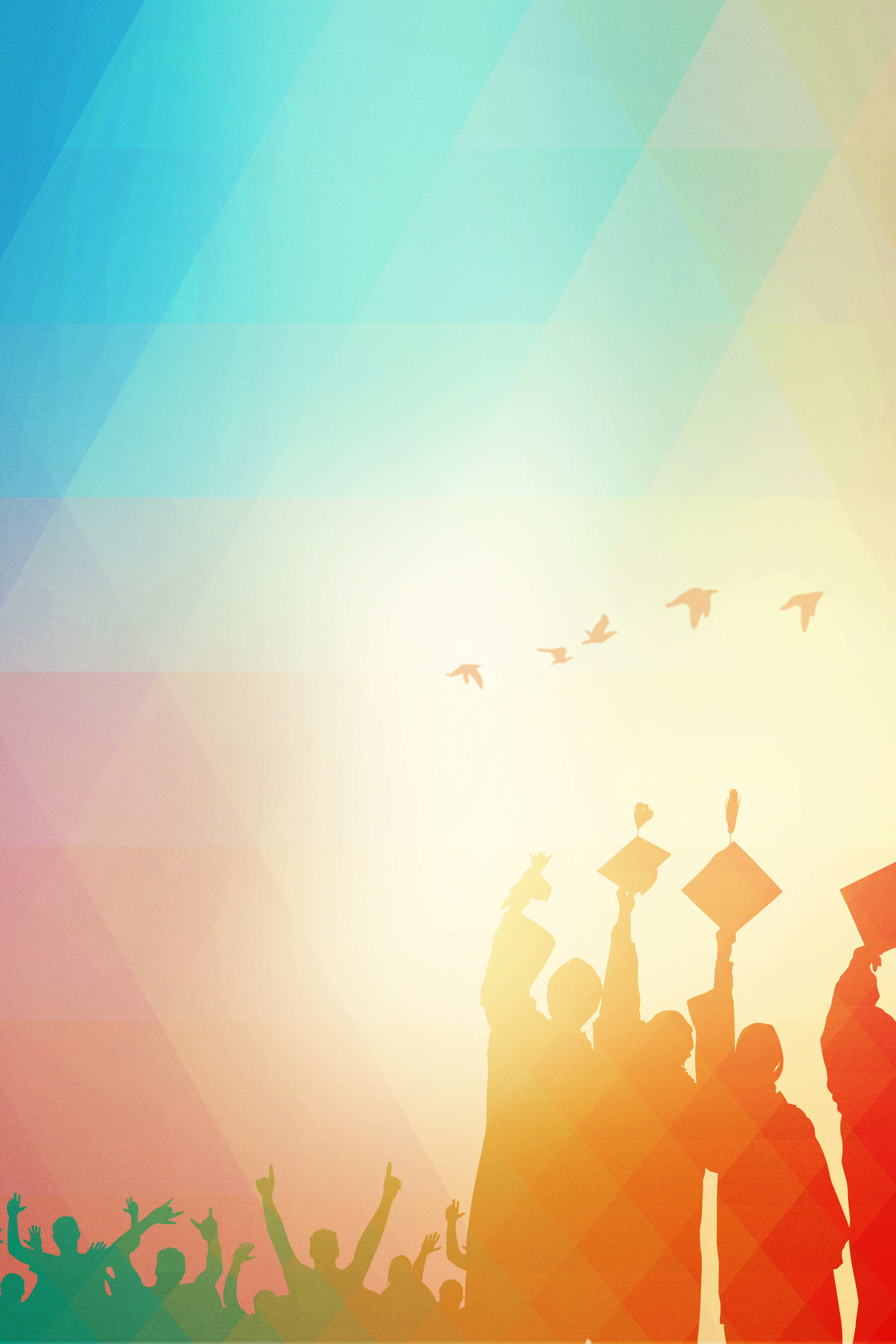 youth background graduation season poster background