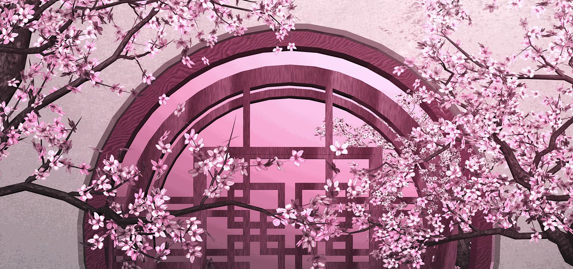 o pano de fundo da sakura fotos de casamento china vento