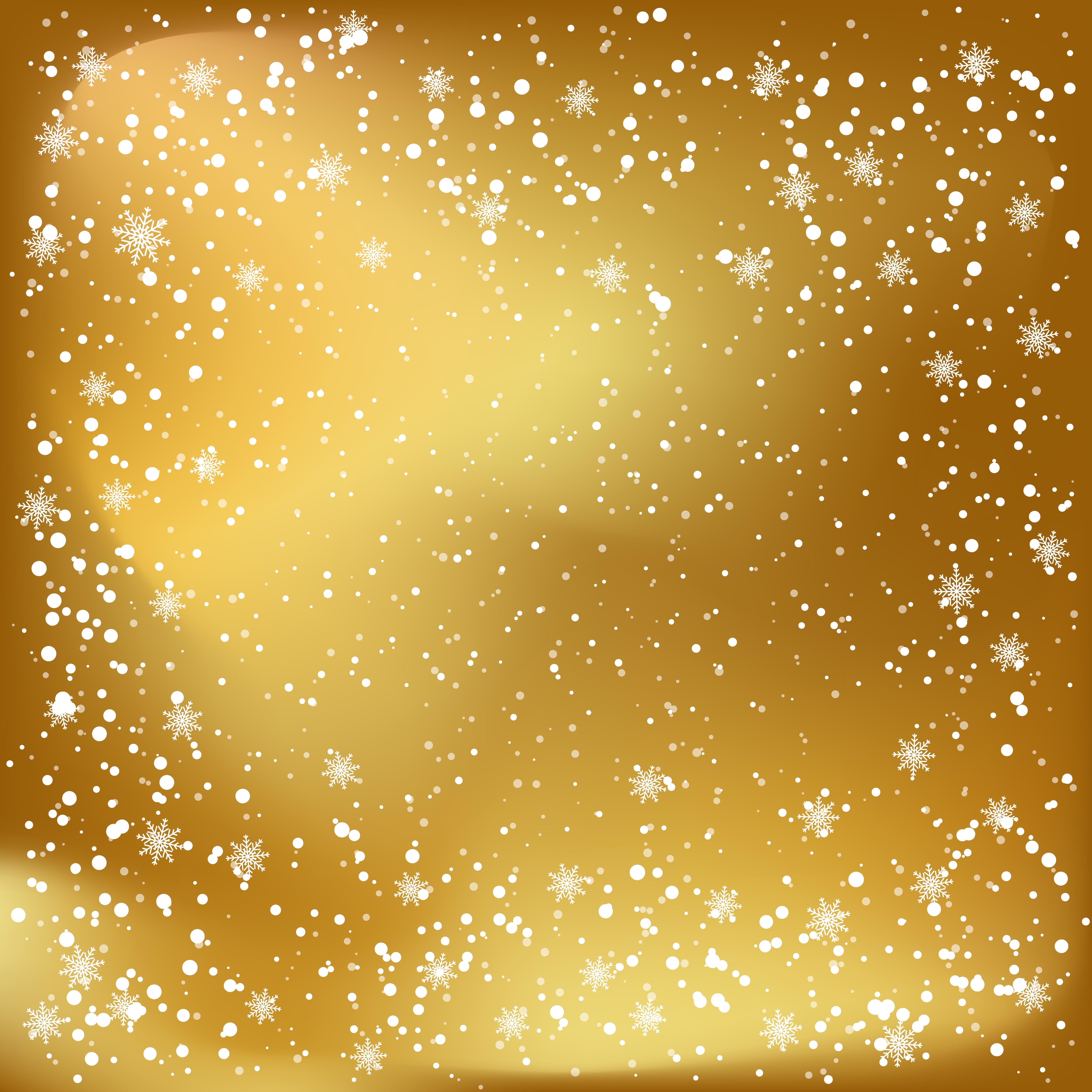 fundo dourado do natal com floco de neve de fundo branco