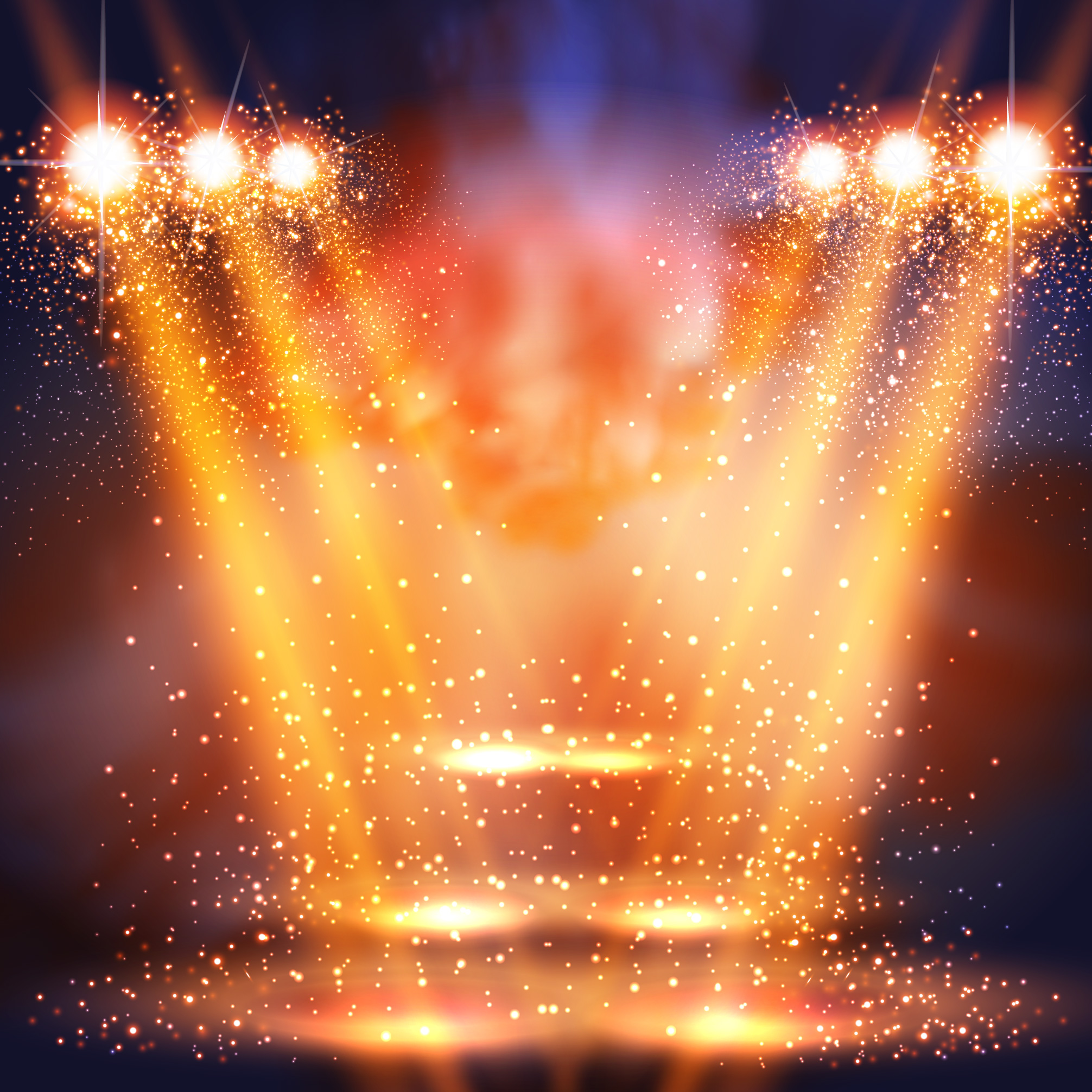 colorful stage lighting background  golden  stage  light