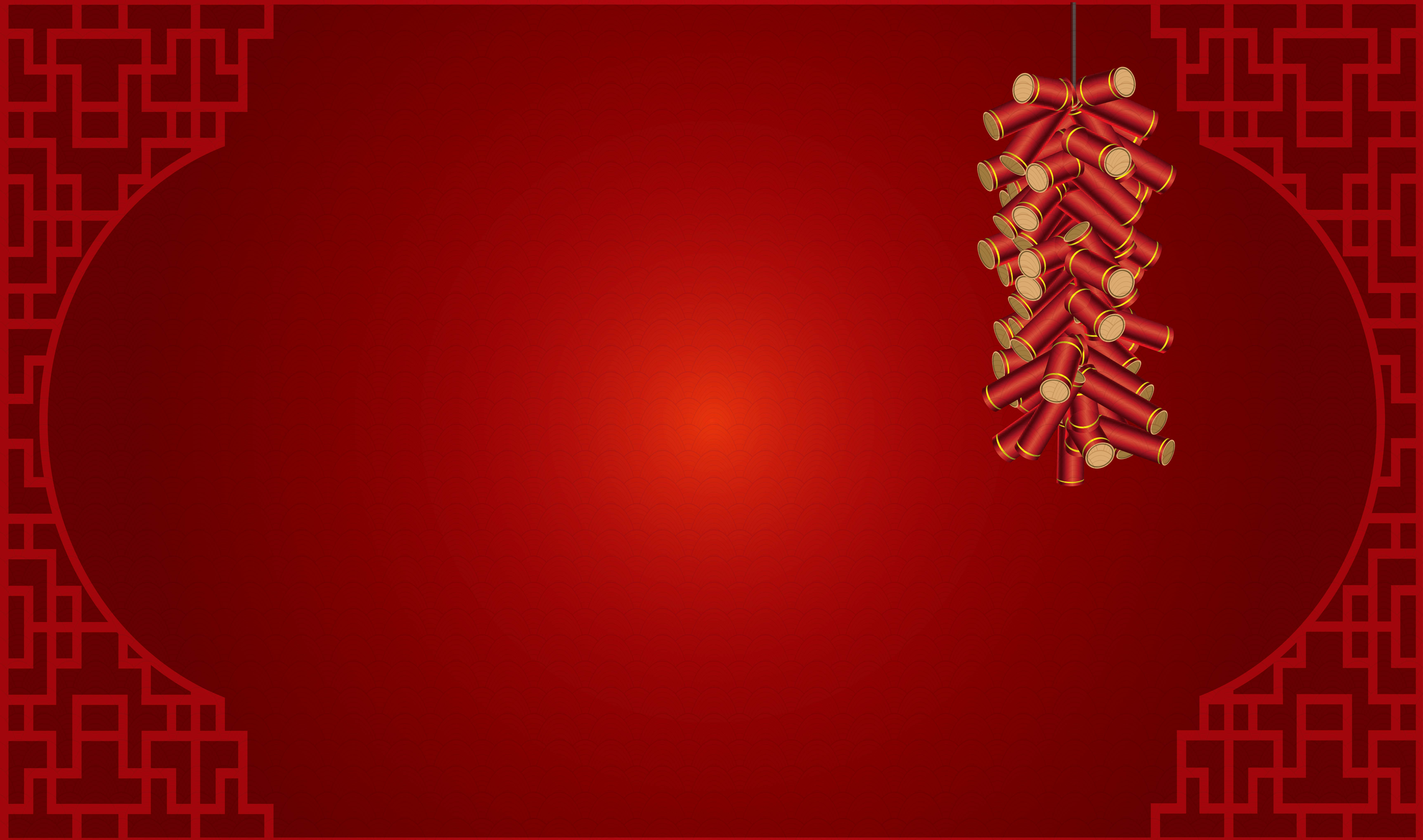 red chinese new year firecrackers wind vector background