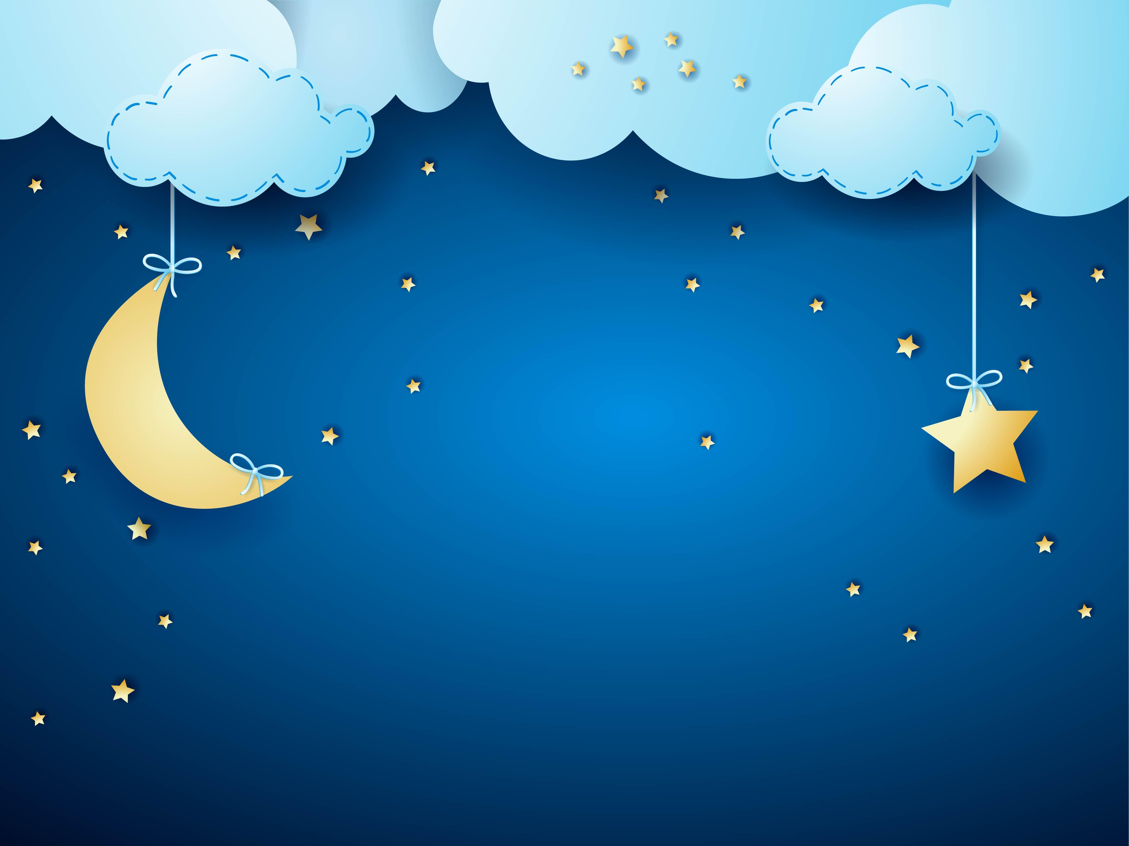 Картинка ночь для детей, анимация