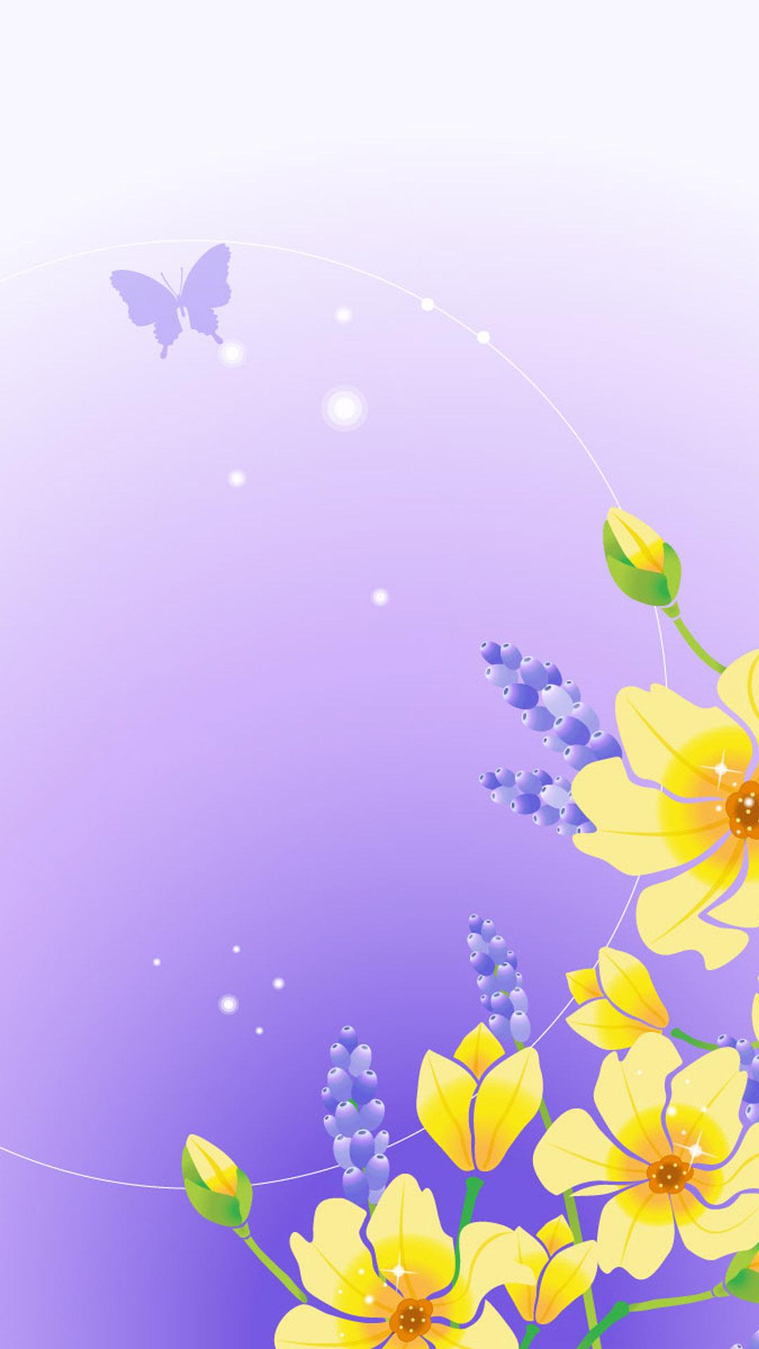 fleurs jaunes h5 de fond  h5 de fond  fleur  jaune violet