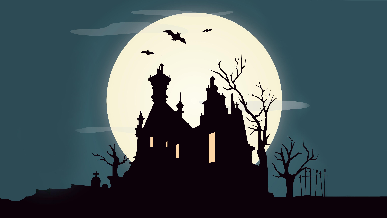 Luna cimitero mondo terra pianeta silhouette