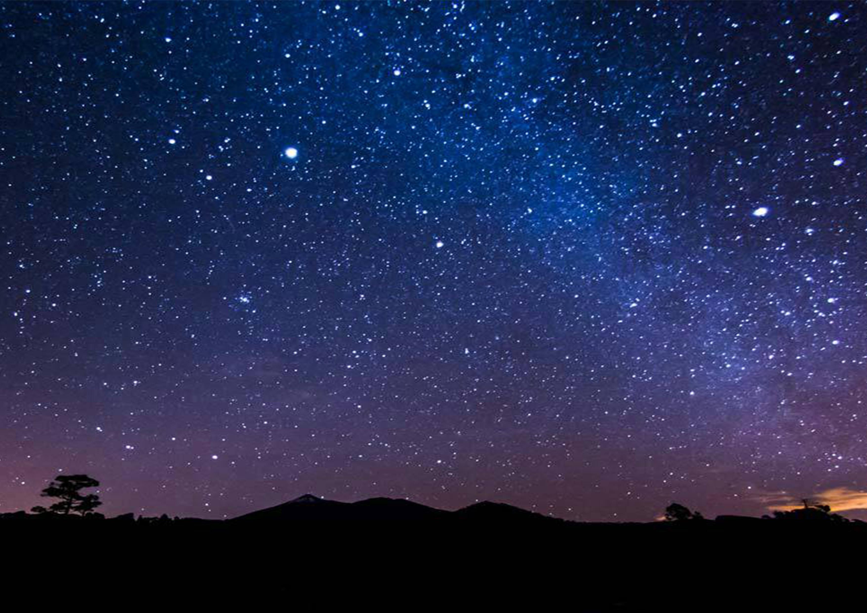 Dark Night Sky Background Star Plane, Deep, Color, Night ...