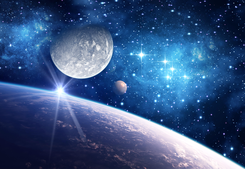 plan u00e8te bleue de fond cosmologique bleu plan u00e8te l univers