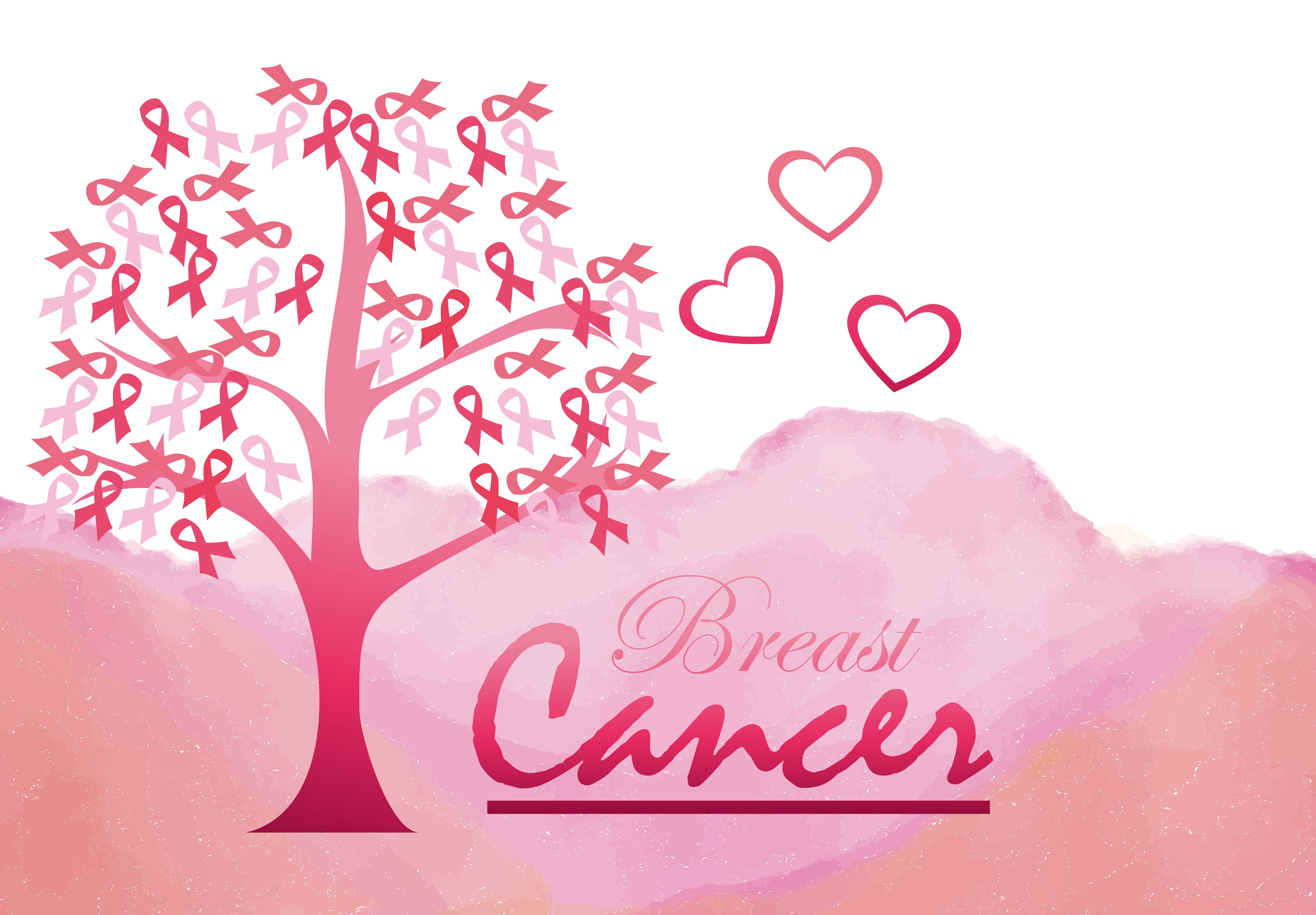 Vector fondo rosa pecho femenino de promoción de la salud Vector ...