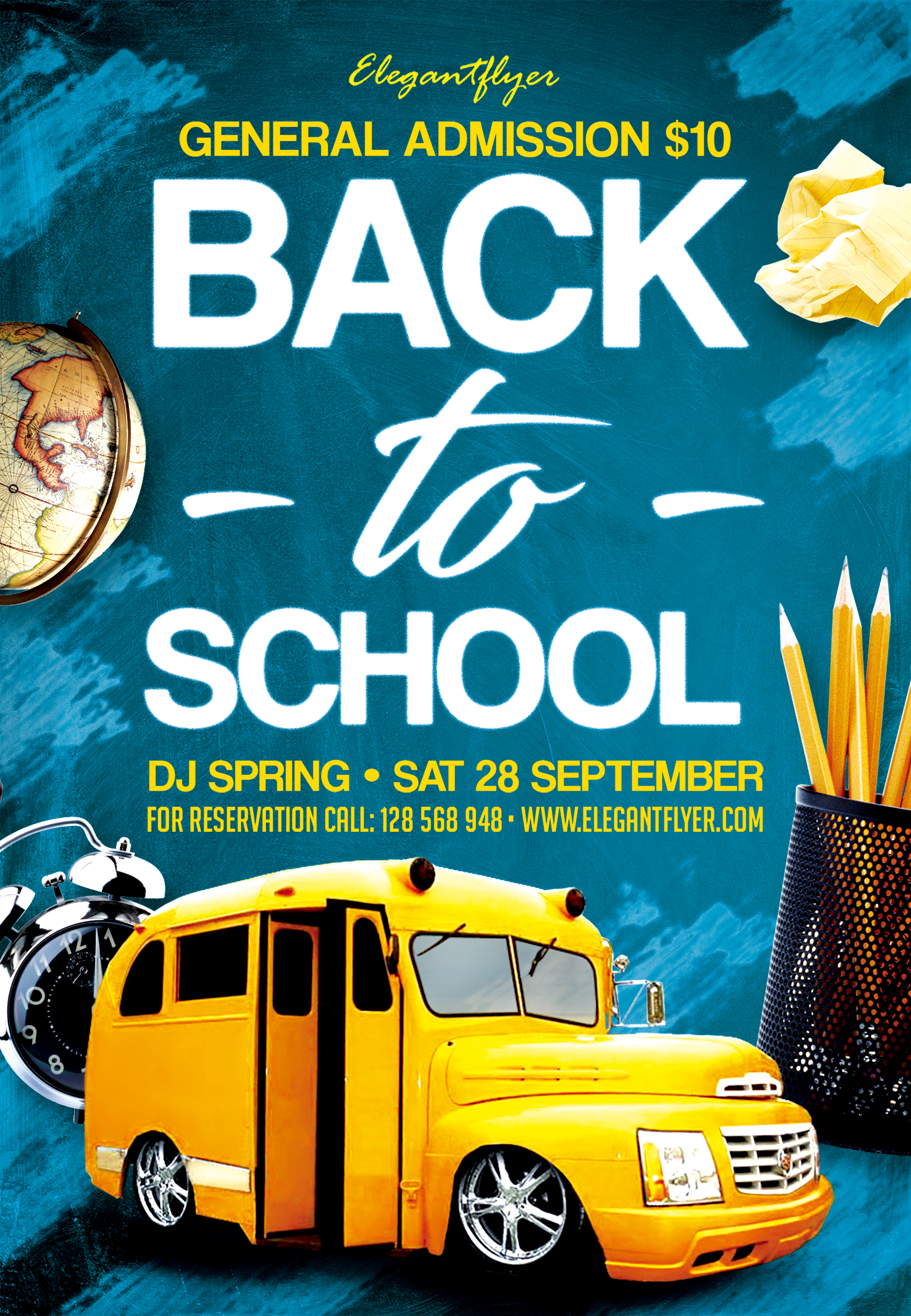 School Poster Back To School Flyer Back To School