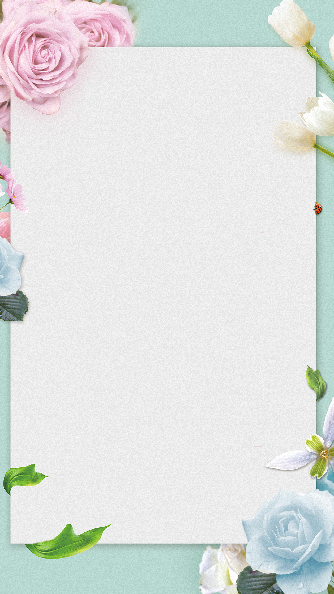 flowers border background h5  frame  flat  flowers background image for free download