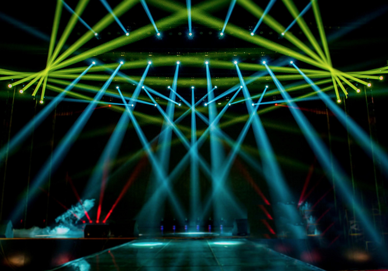 luz de fundo de palco o palco o feixe de luz show imagem