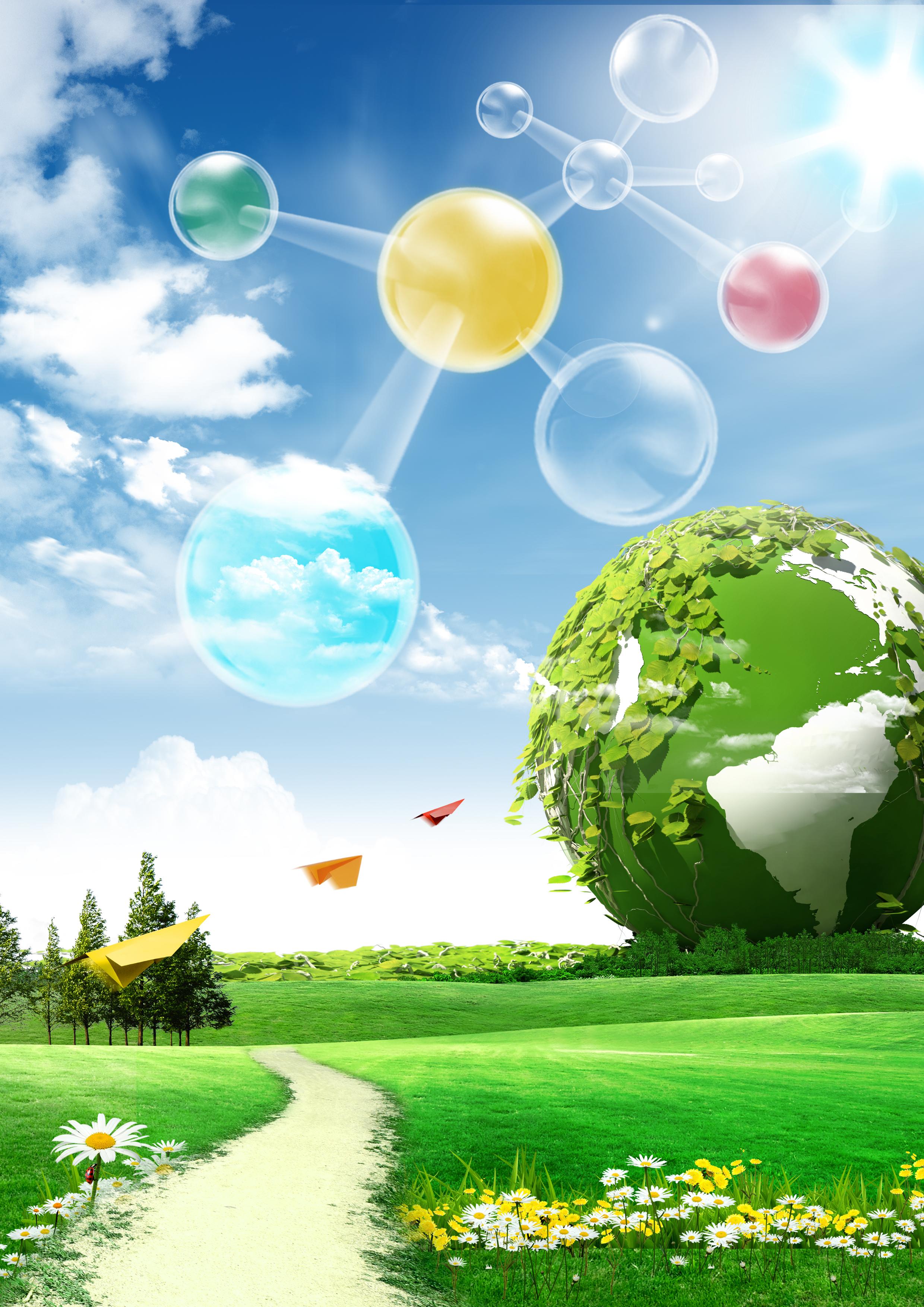 natural green technology background  green  natural