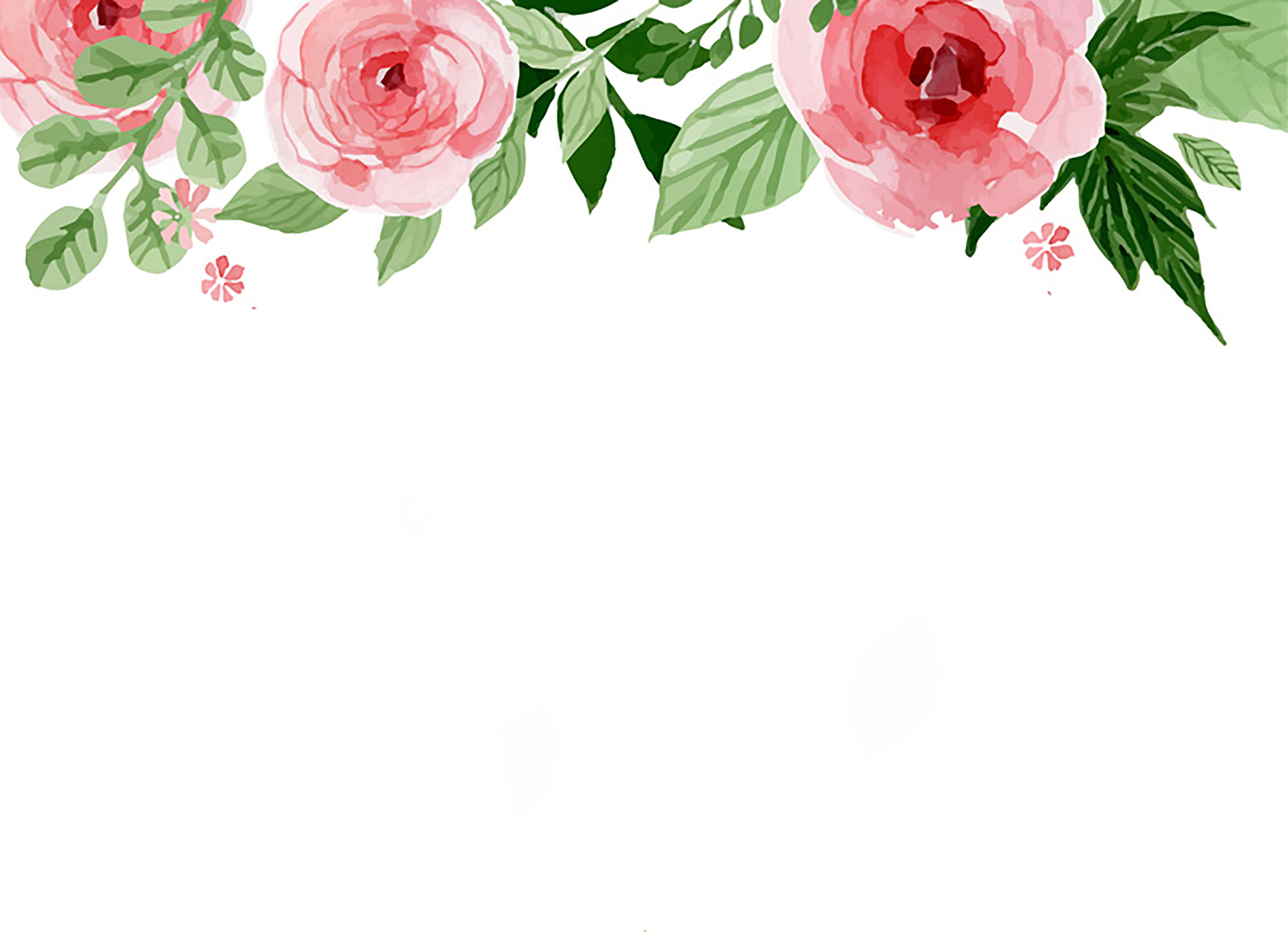 aquarelle floral fleur section contexte simple aquarelle