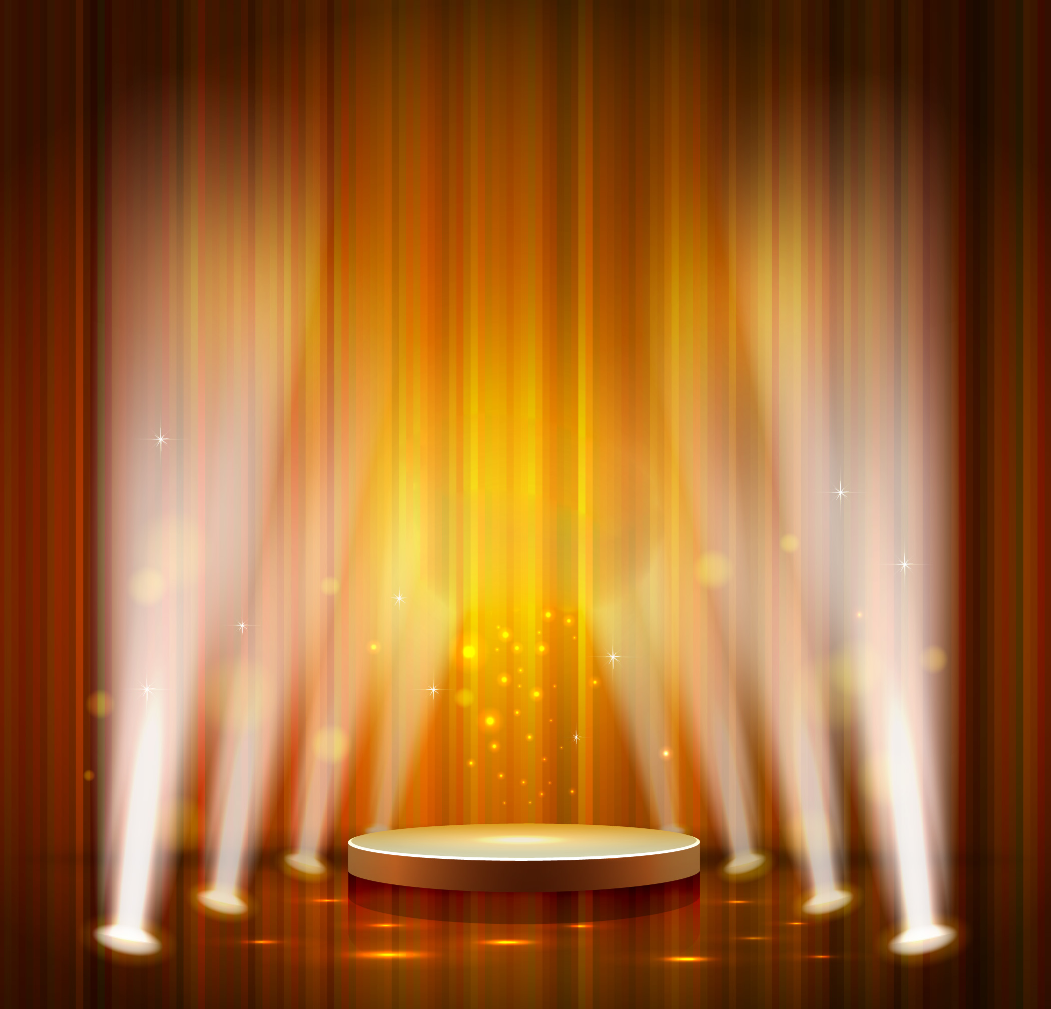 orange stage lights background  orange  light  stage background image for free download