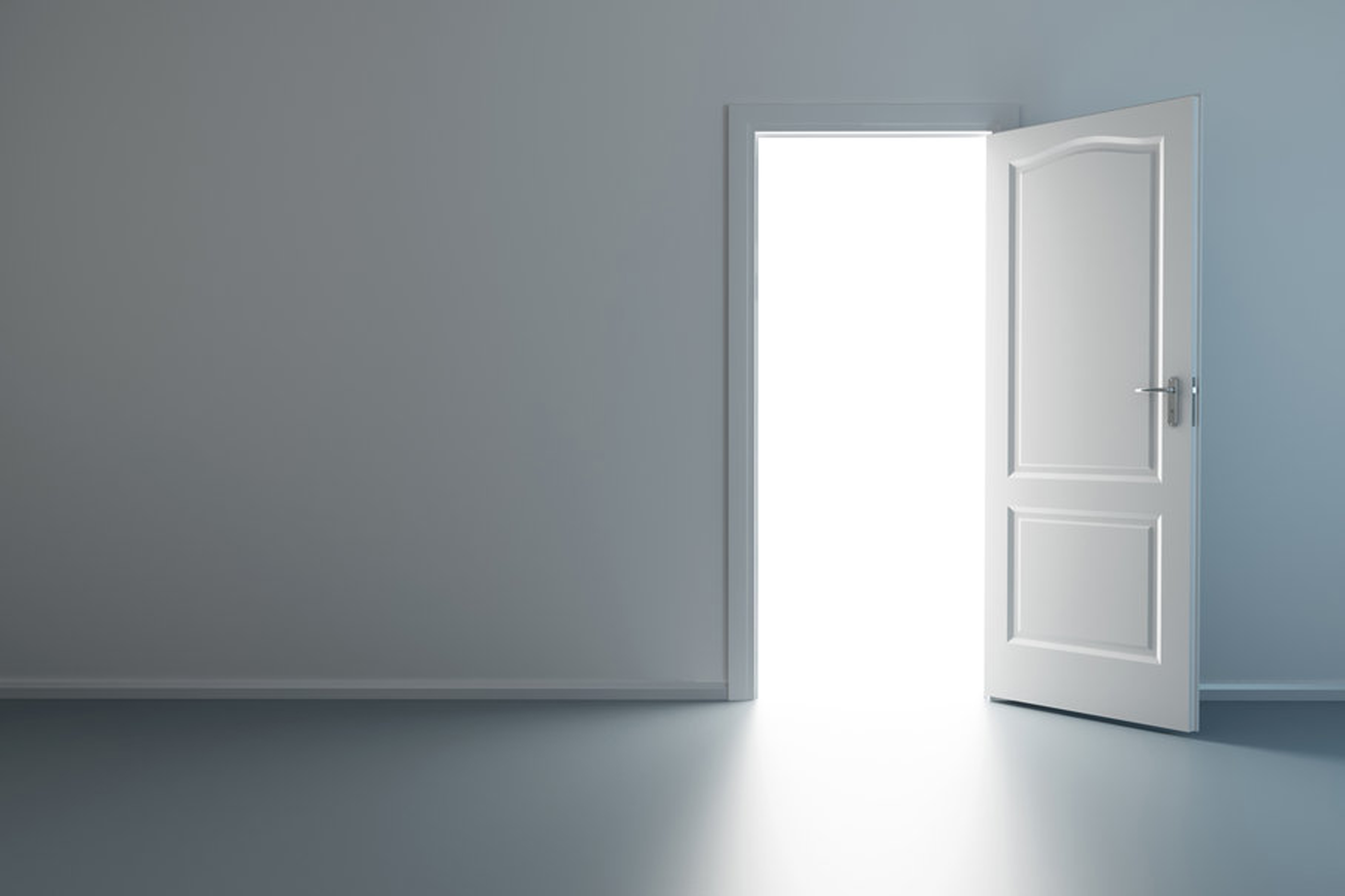 White Space Open Door White Space Turn Background Image