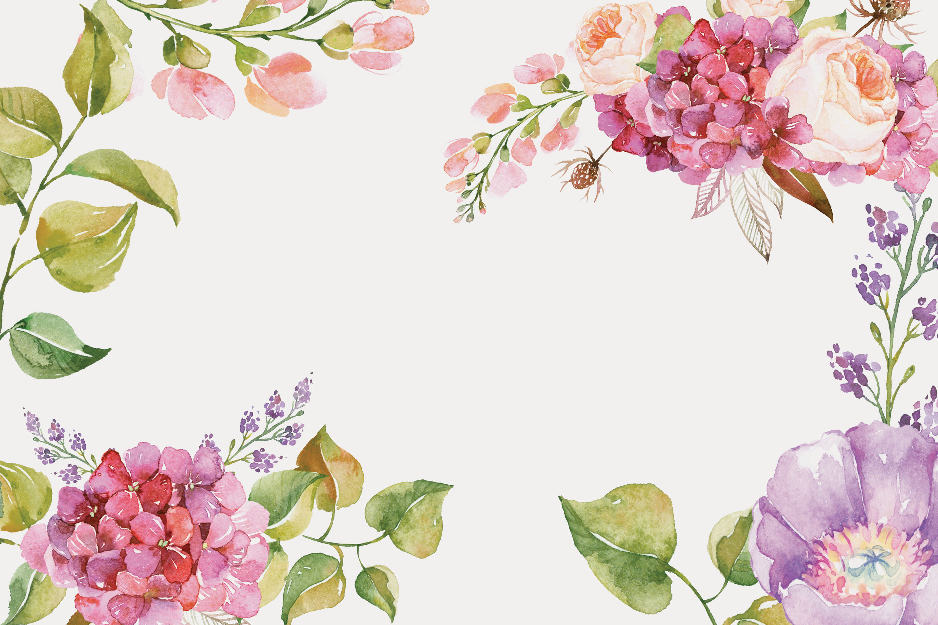 posters floral watercolor background  watercolor  flowers