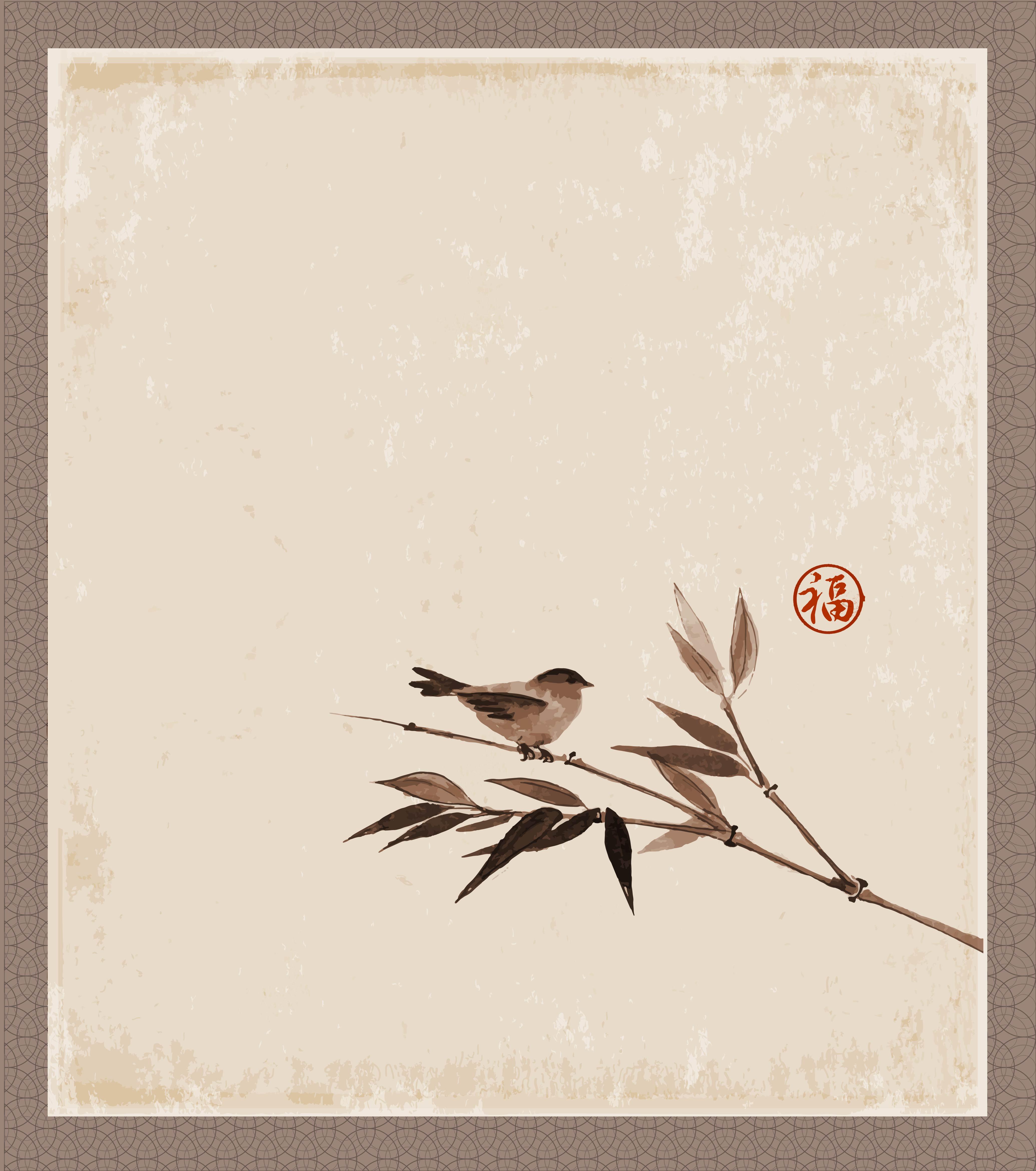 Bird Grunge Paper Hummingbird Antique Texture Old Background