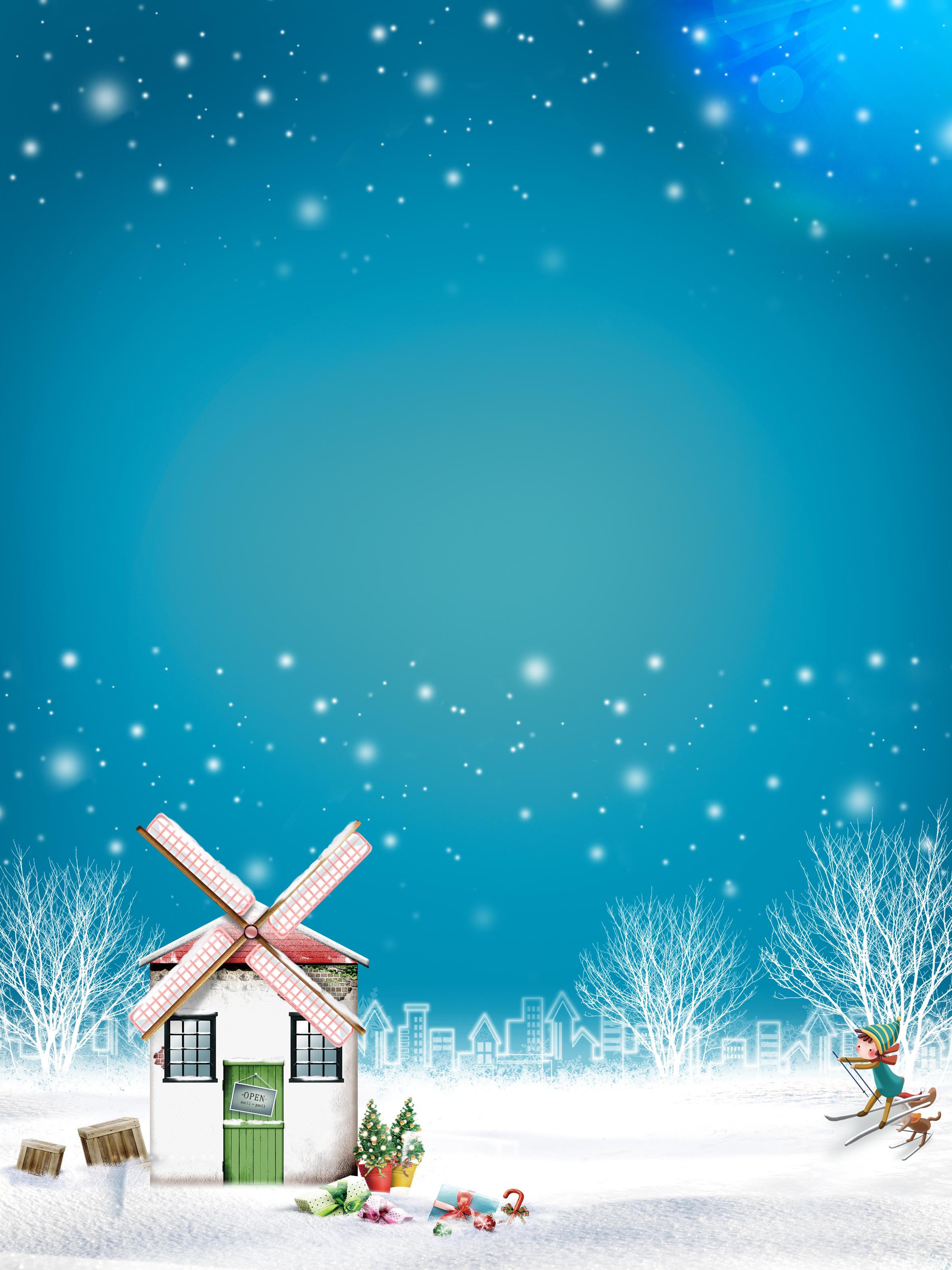 Fundo De Desenhos Animados De Natal Infantil Cartoon Fun